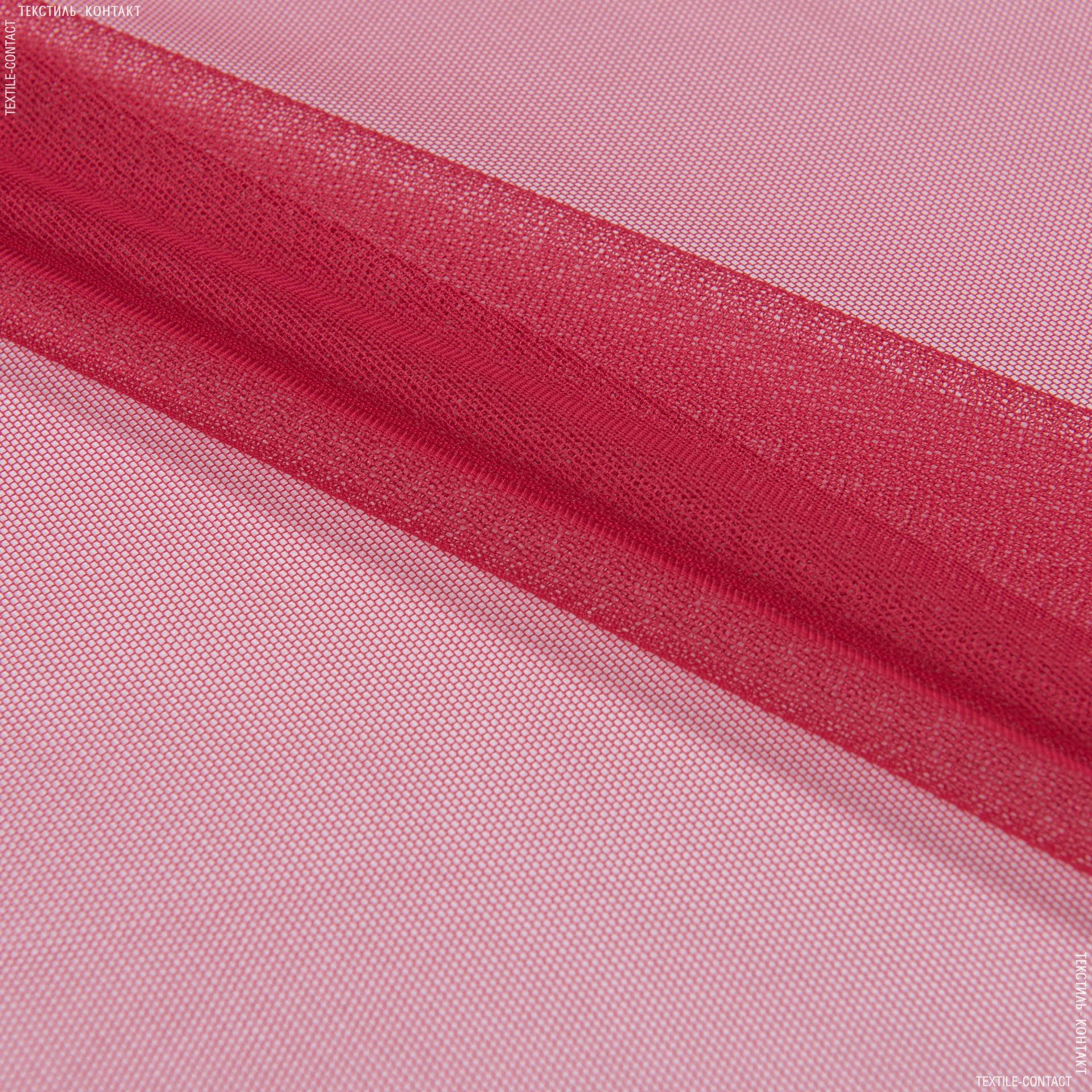 Ткани для платьев - Фатин стрейч красный