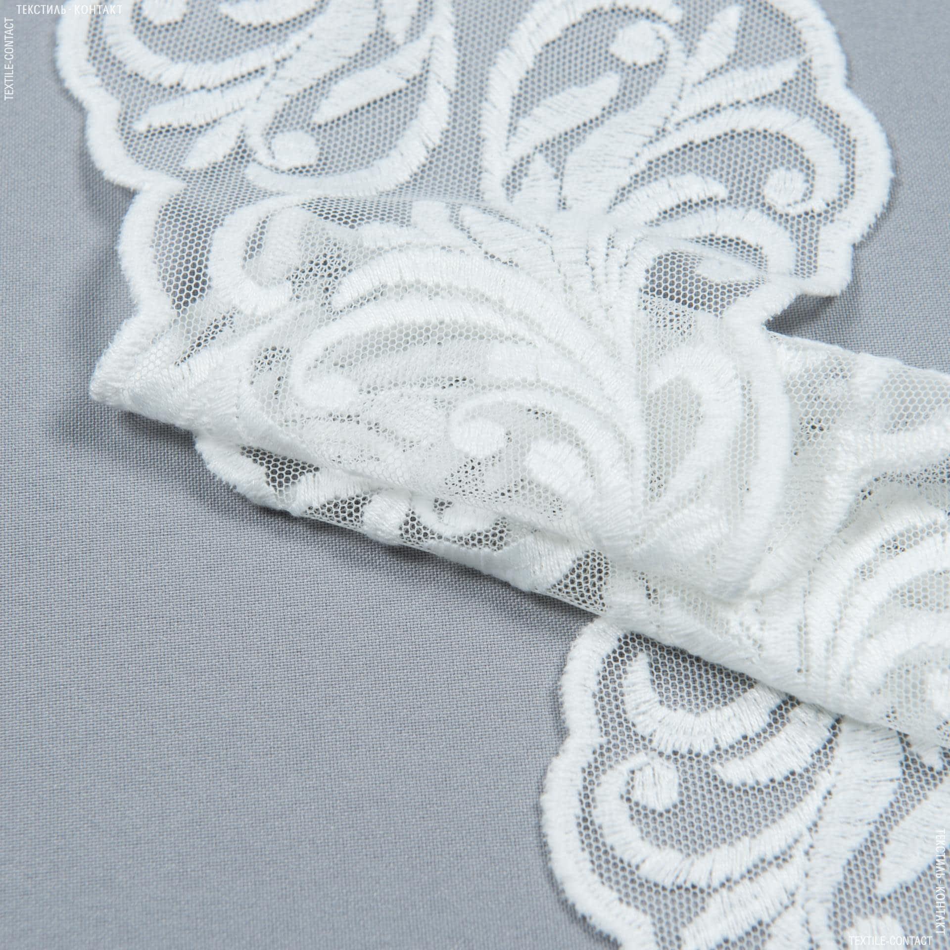 Тканини для печворку - Декоративне мереживо ленора / молочний 16 см