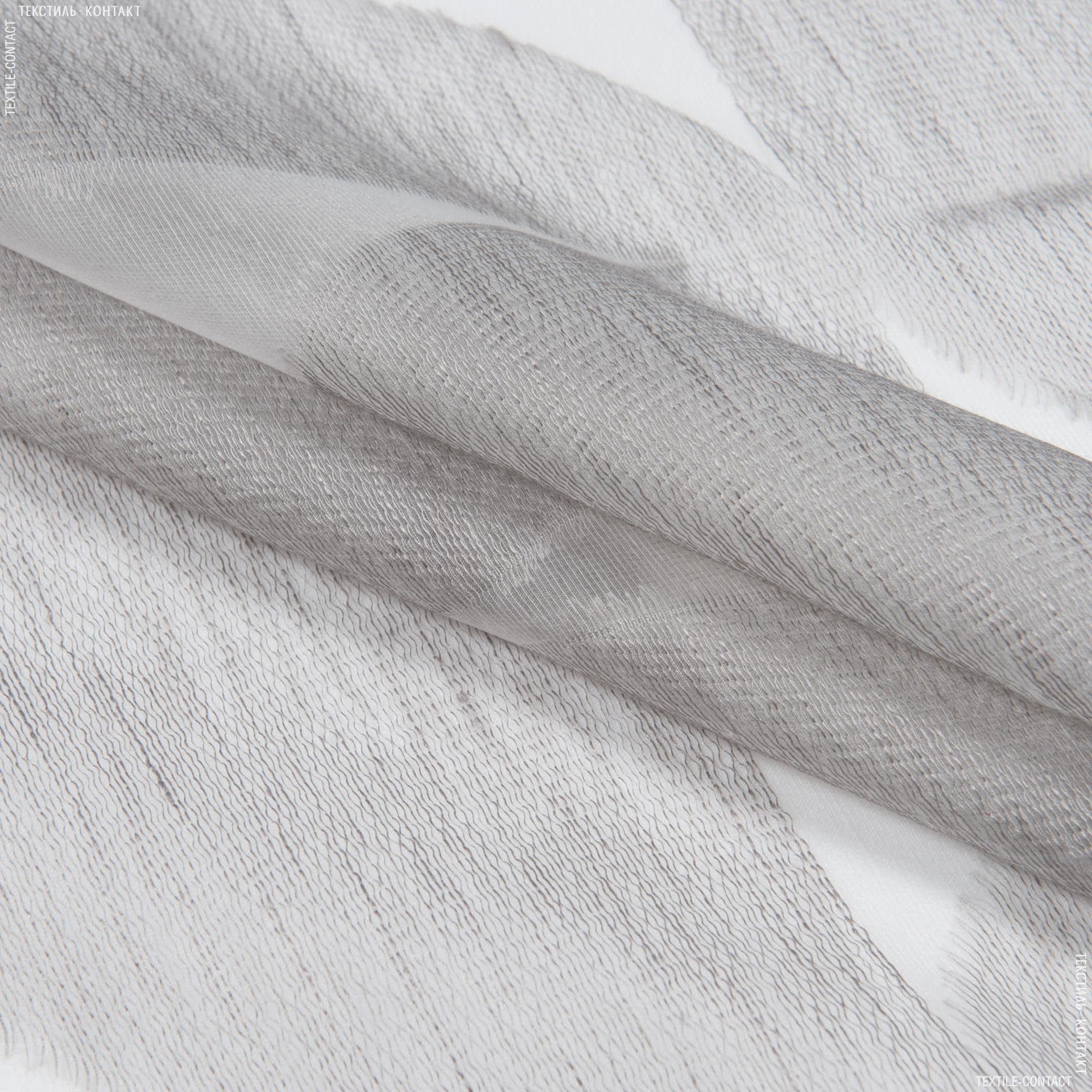 Тканини гардинні тканини - Тюль з обважнювачем мерідіана сіро-бежевий