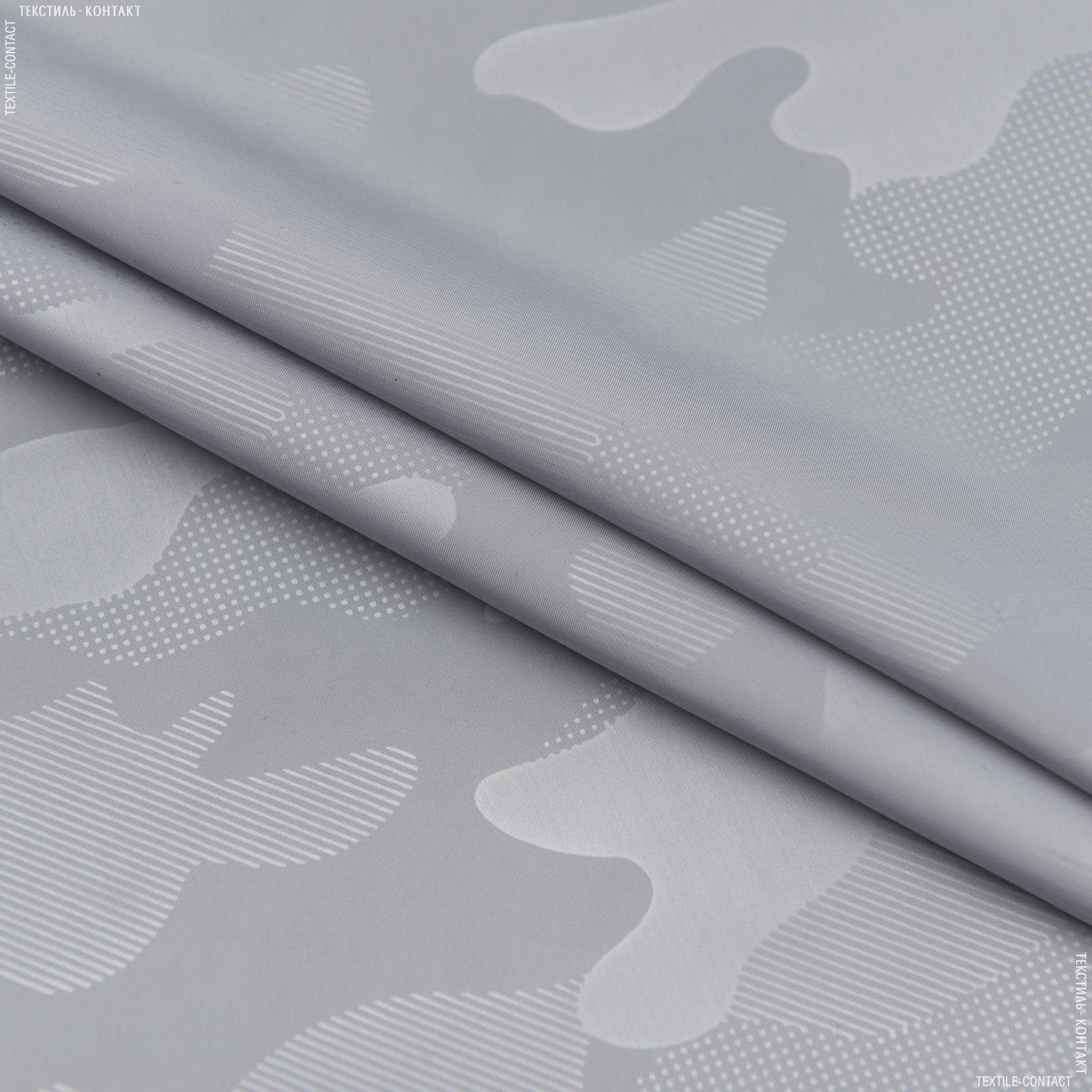 Ткани для верхней одежды - Плащевая термо-камуфляж светло-серый