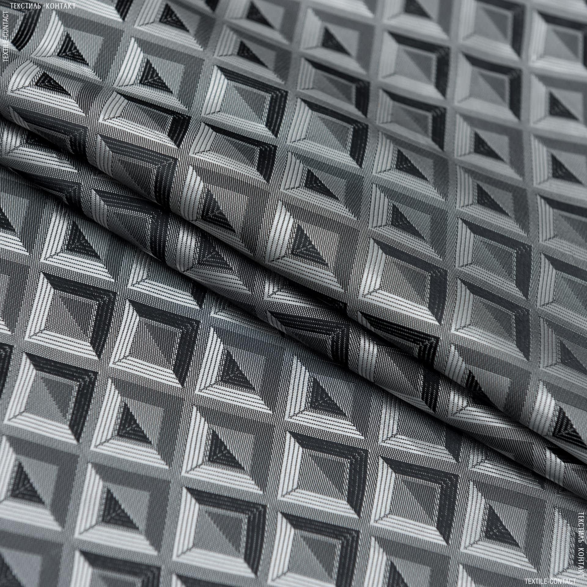 Тканини підкладкова тканина - Підкладковий жакард хамелеон чорний/срібний