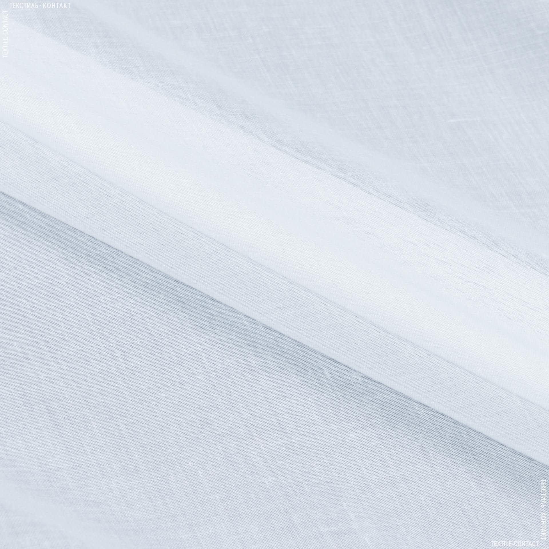 Тканини для драпірування стін і стель - Тюль батист фантазія з обважнювачем білий перламутр
