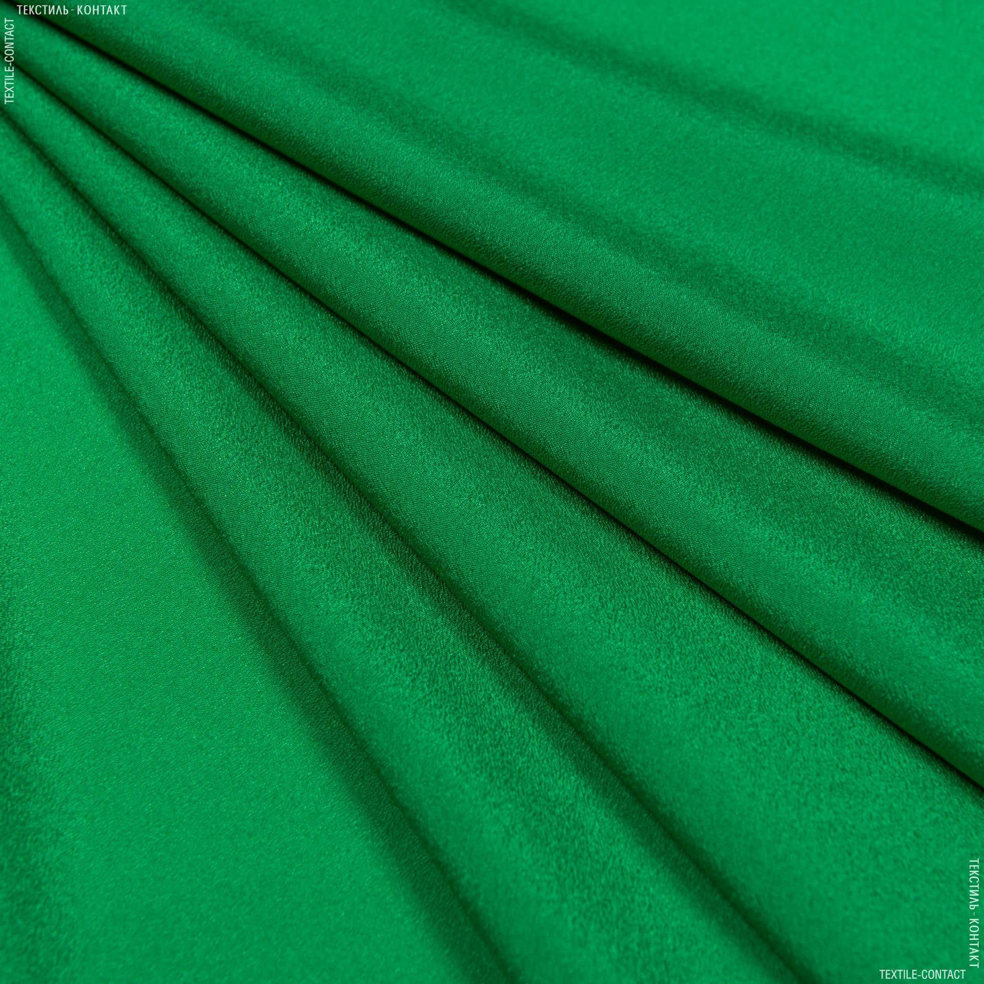 Ткани для платков и бандан - Крепдешин трава