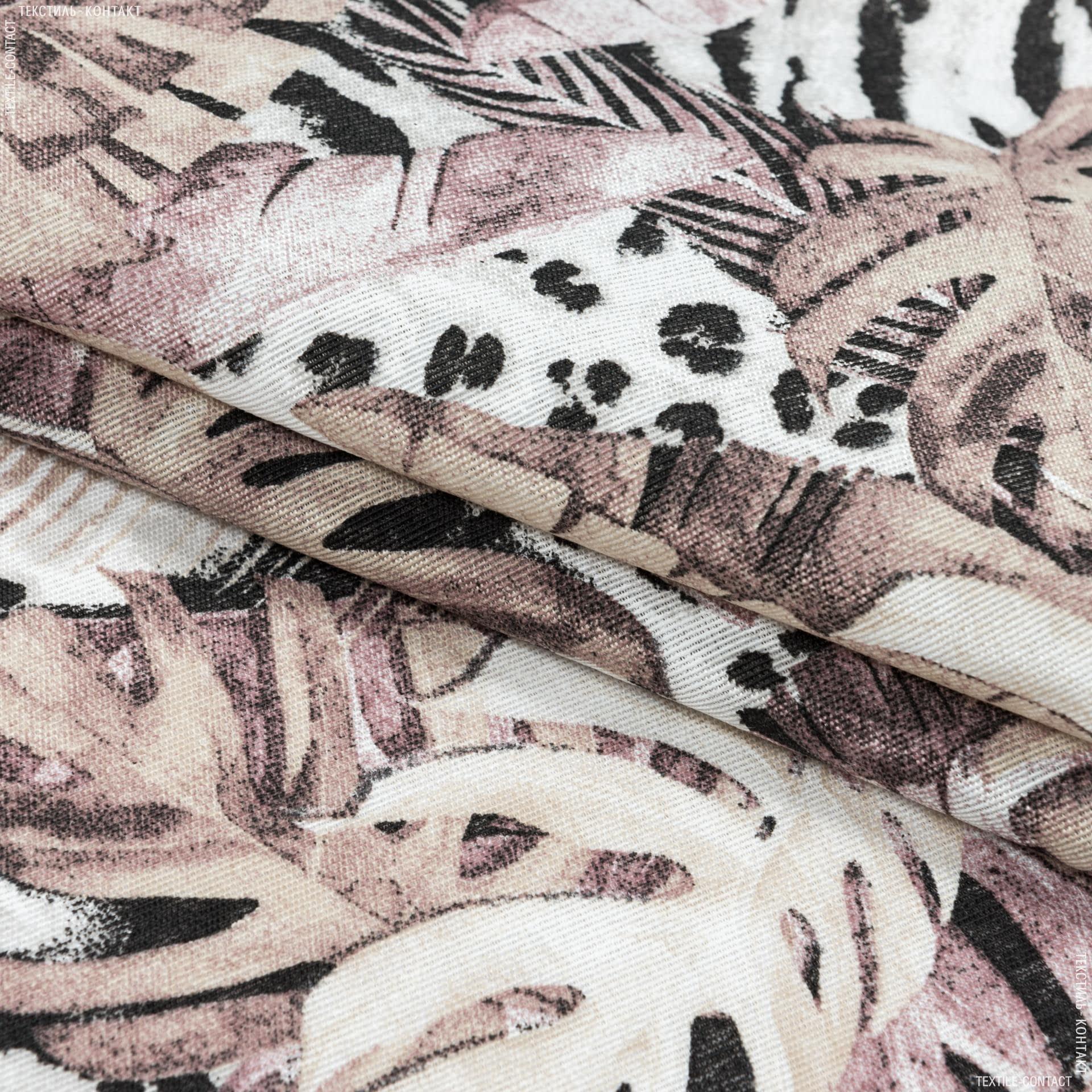 Тканини портьєрні тканини - Декоративна тканина селва великий лист/selva т.беж