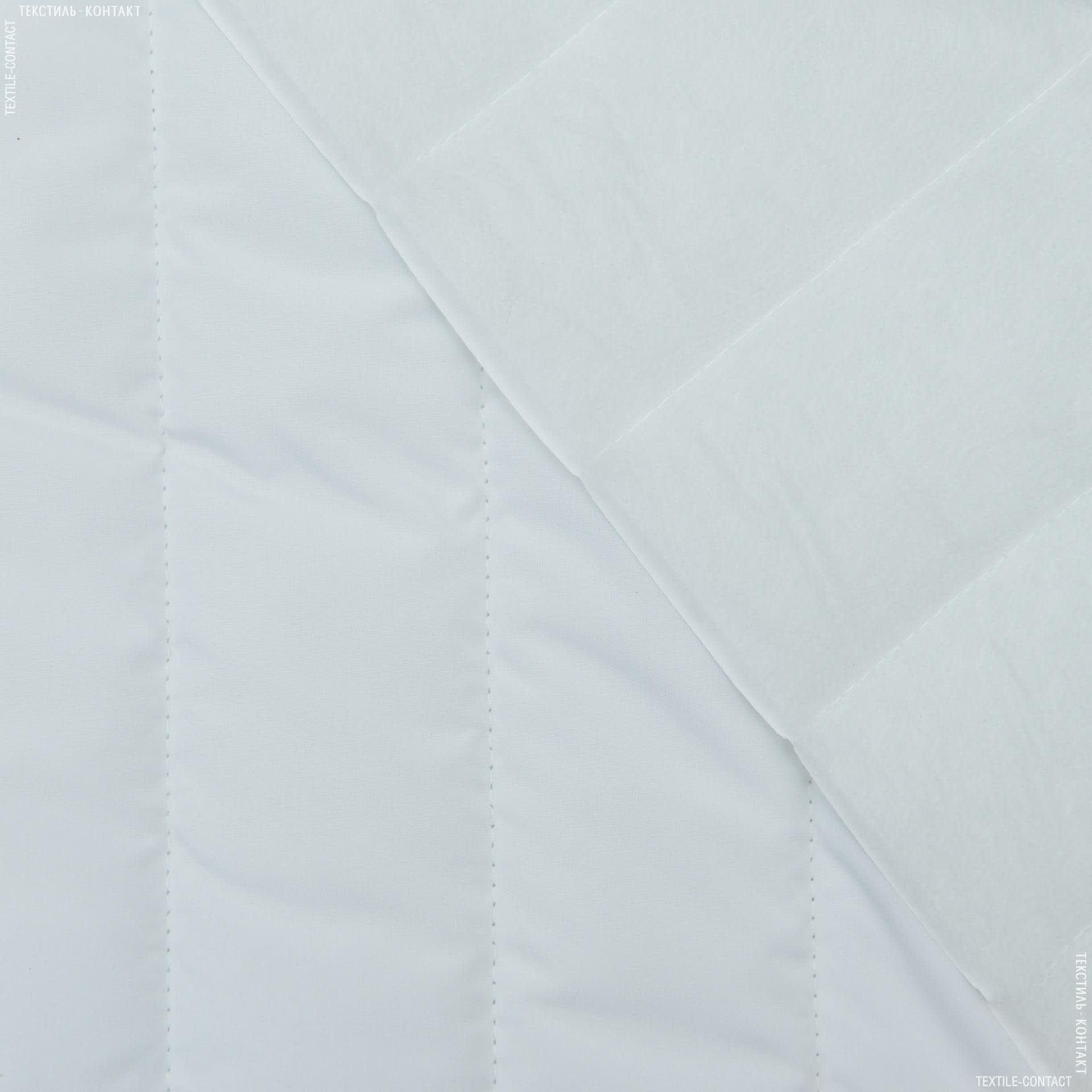 Тканини для верхнього одягу - Плащова фортуна стьобана з синтепоном білий