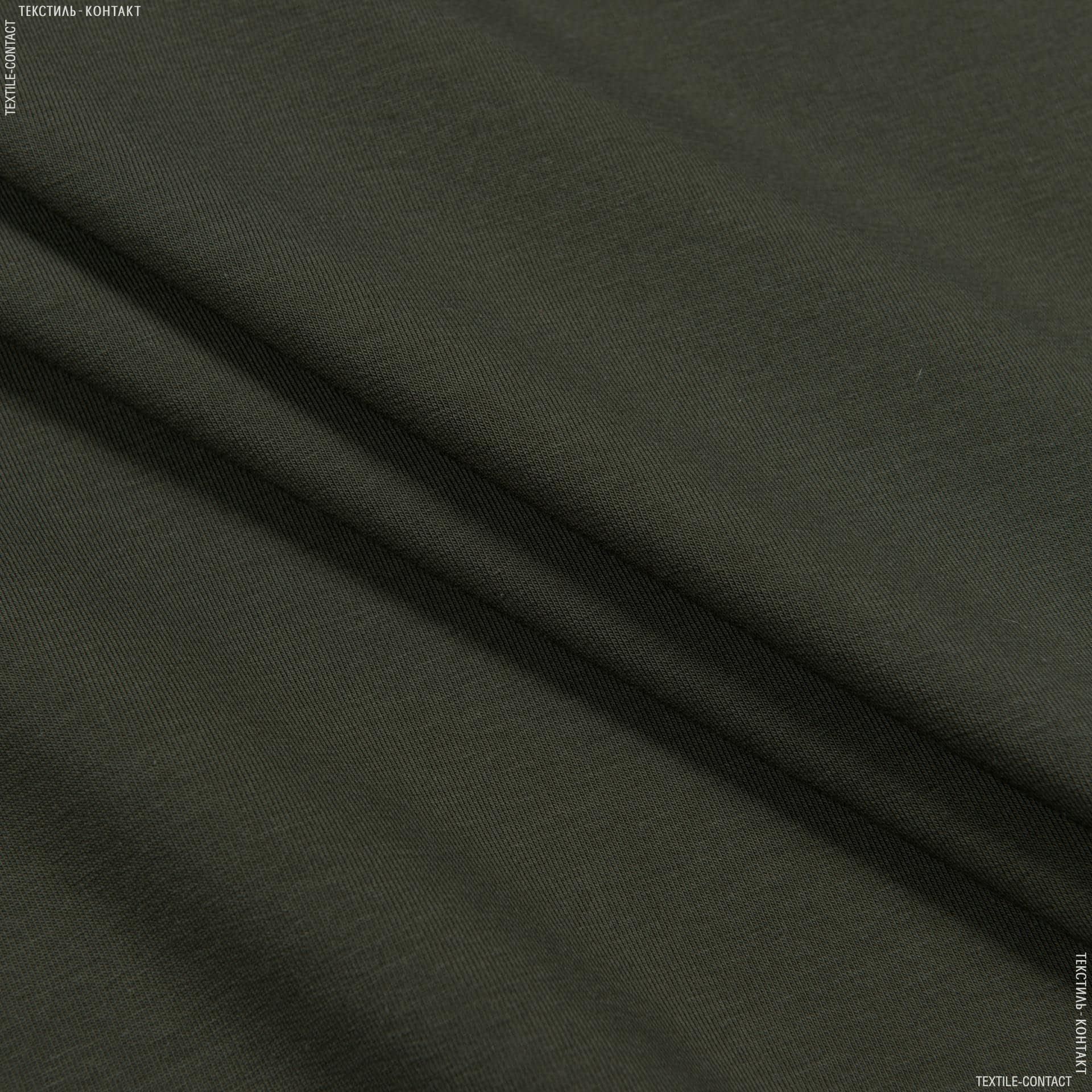 Ткани для спортивной одежды - Футер-стрейч двухнитка темный хаки