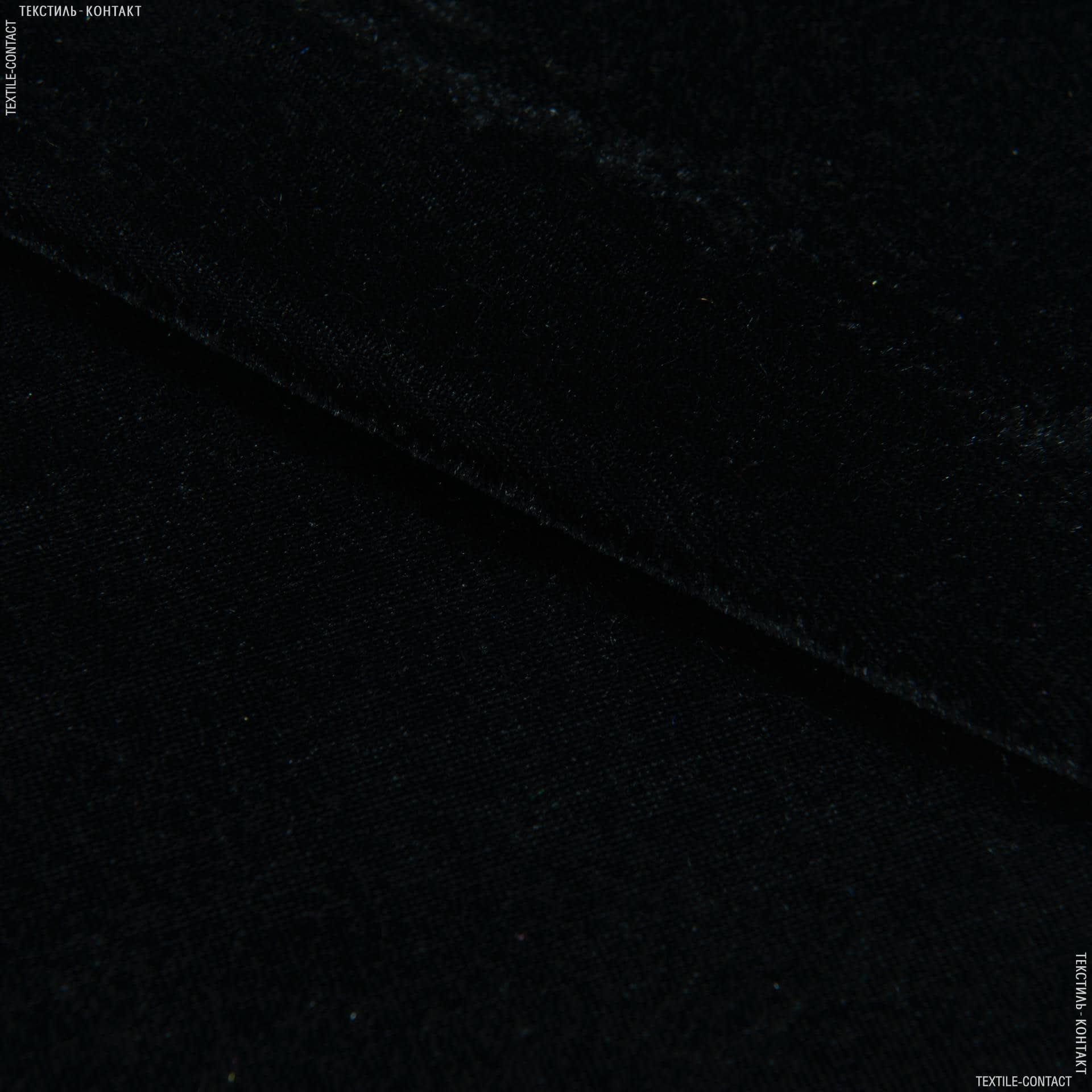 Ткани для платьев - Велюр стрейч черный