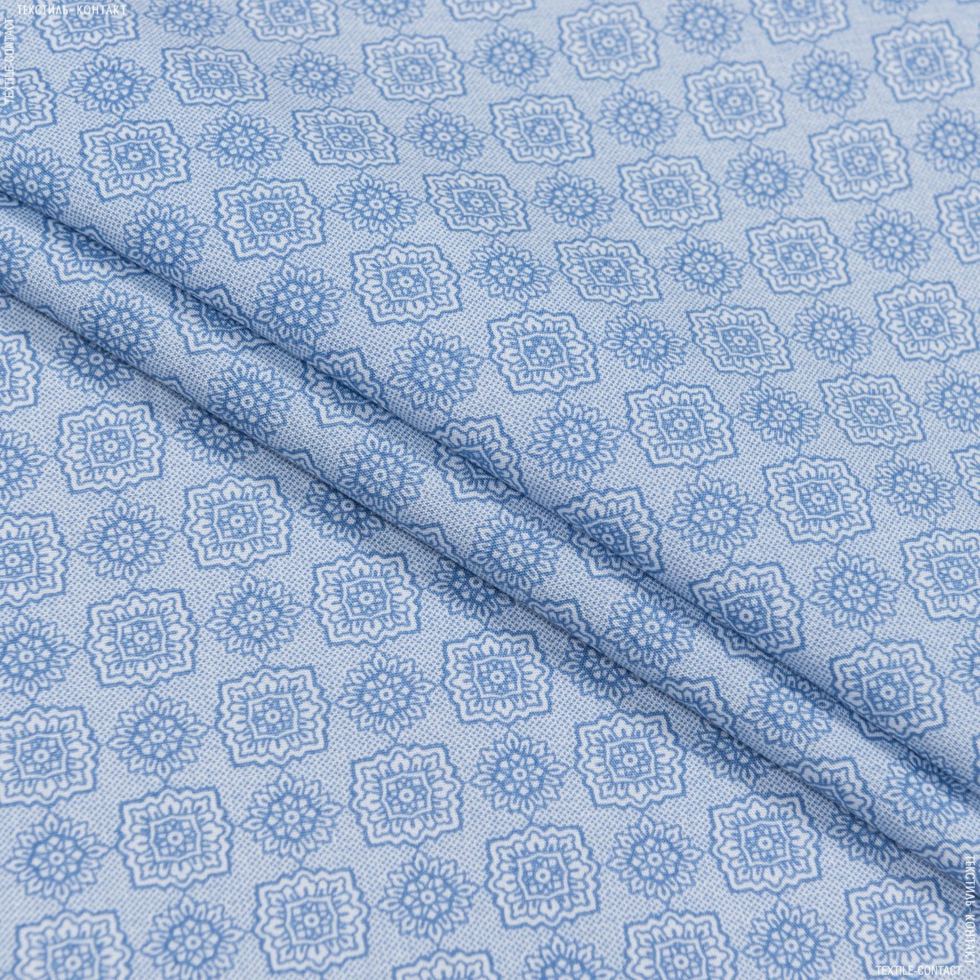Тканини для хусток та бандан - Сорочкова tessitrama принт сіро-блакитний