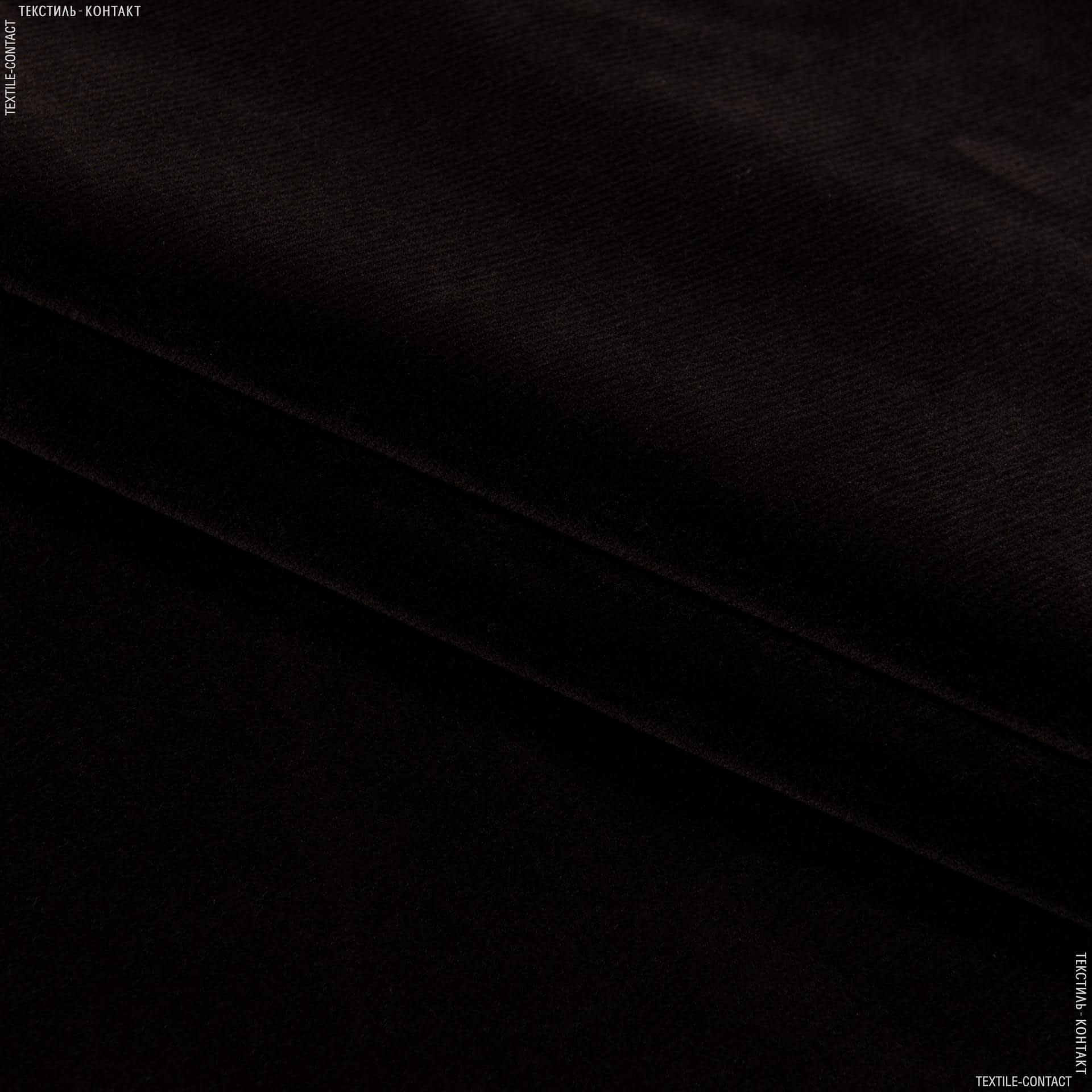 Тканини horeca - Велюр з вогнетривким просоченням метро / metro т. шоколад  сток