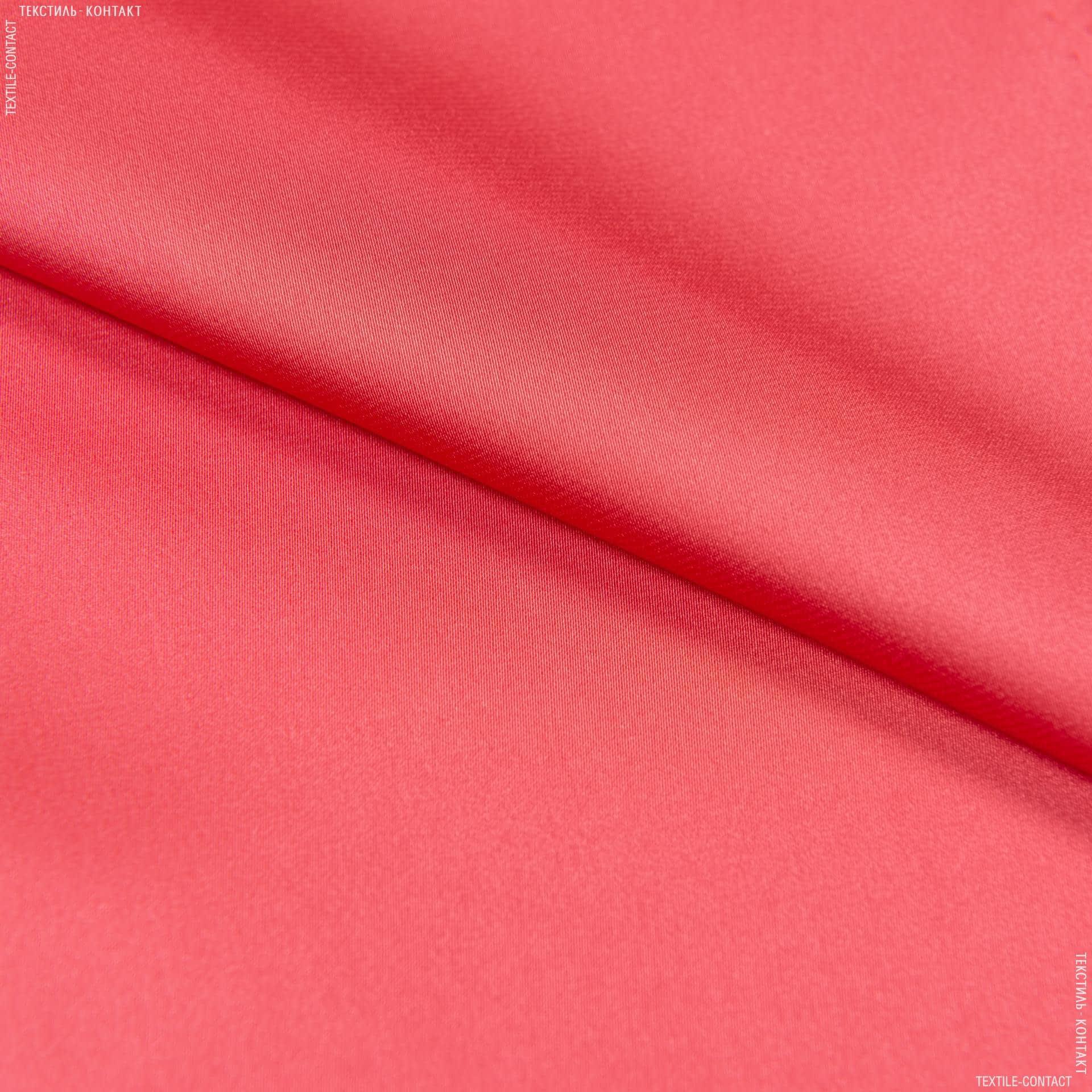 Ткани для платьев - Шелк искусственный стрейч коралловый