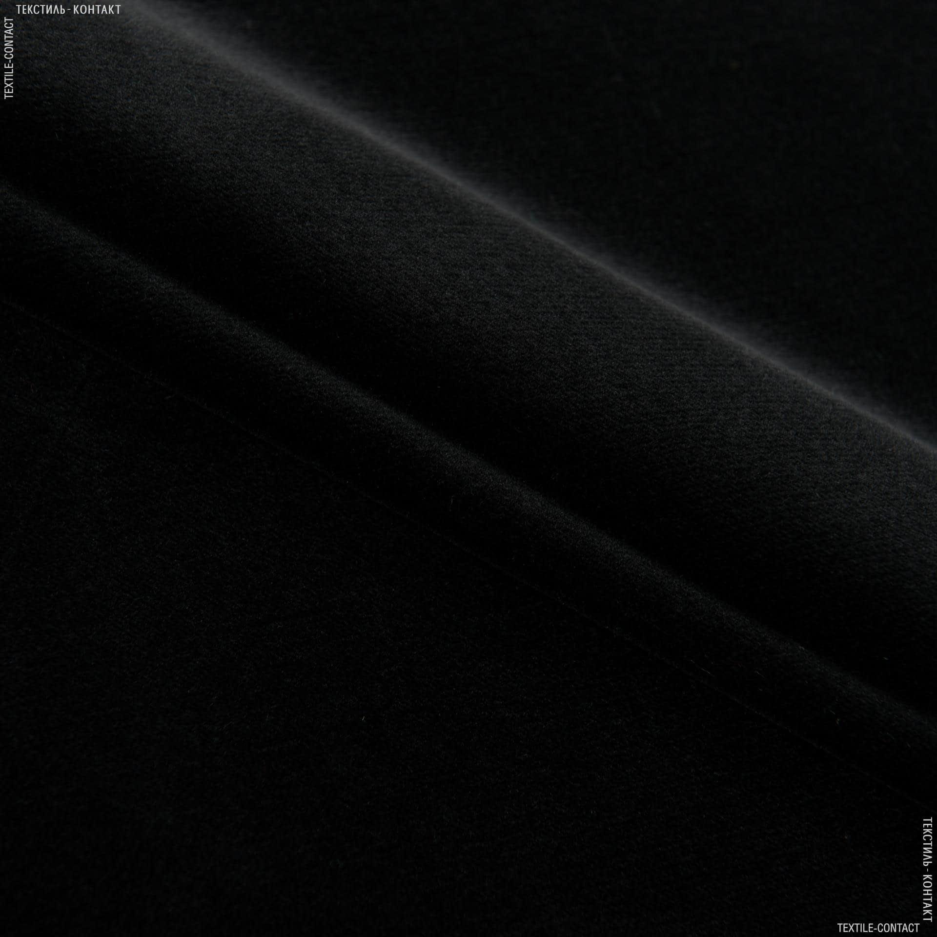 Ткани для мебели - Велюр  ванеса/vanesa черный сток