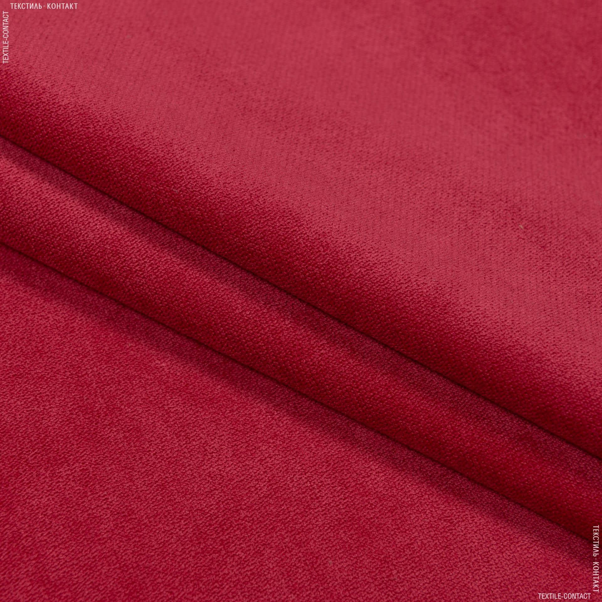 Тканини для меблів - Велюр будапешт/budapest червоний