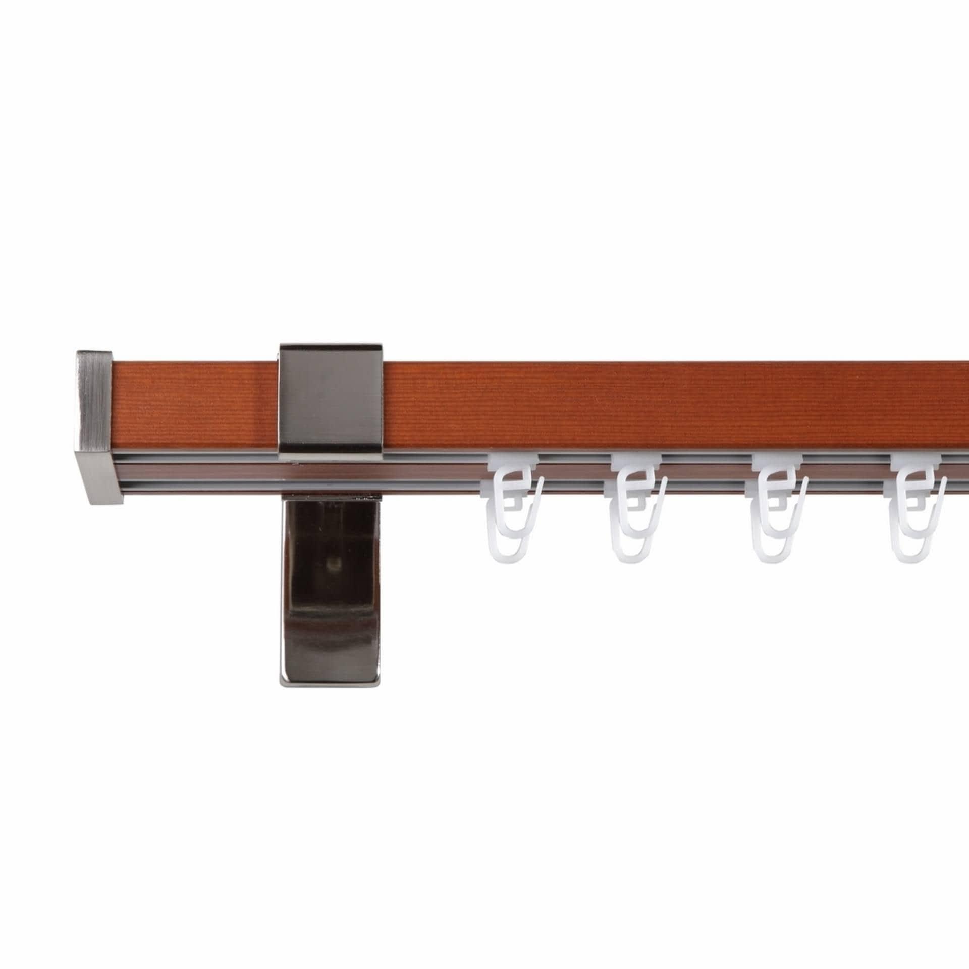 Тканини карнизи - Карниз Квадрато І сталь+черешня 25мм/200см