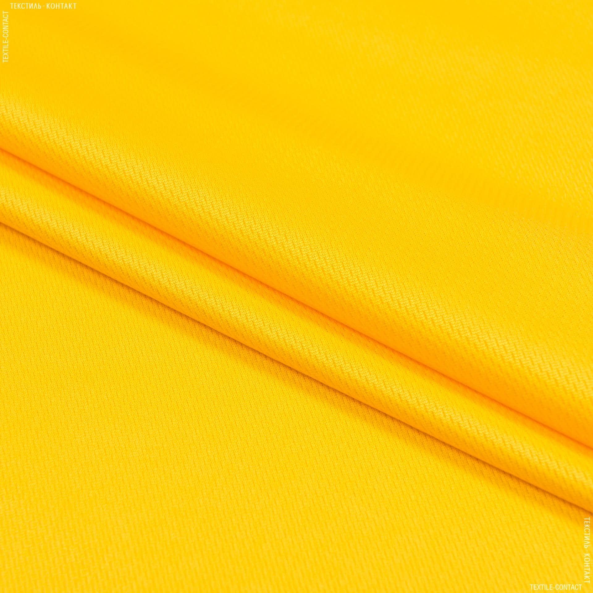 Ткани для спортивной одежды - Микро лакоста желтый