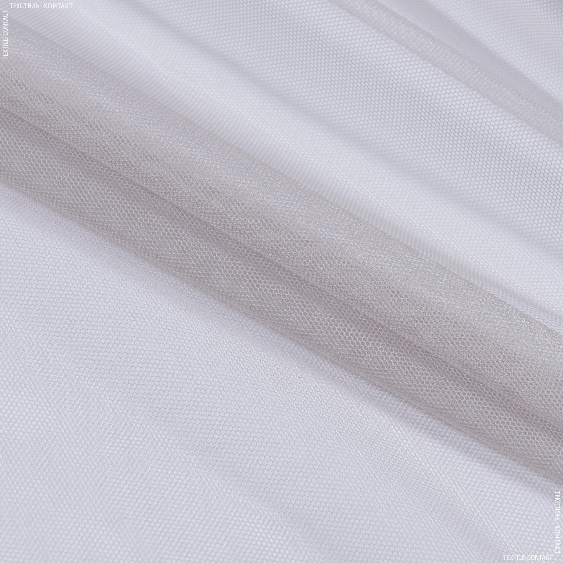 Ткани гардинные ткани - Тюль с утяжелителем сетка грек/grek  св.сизый