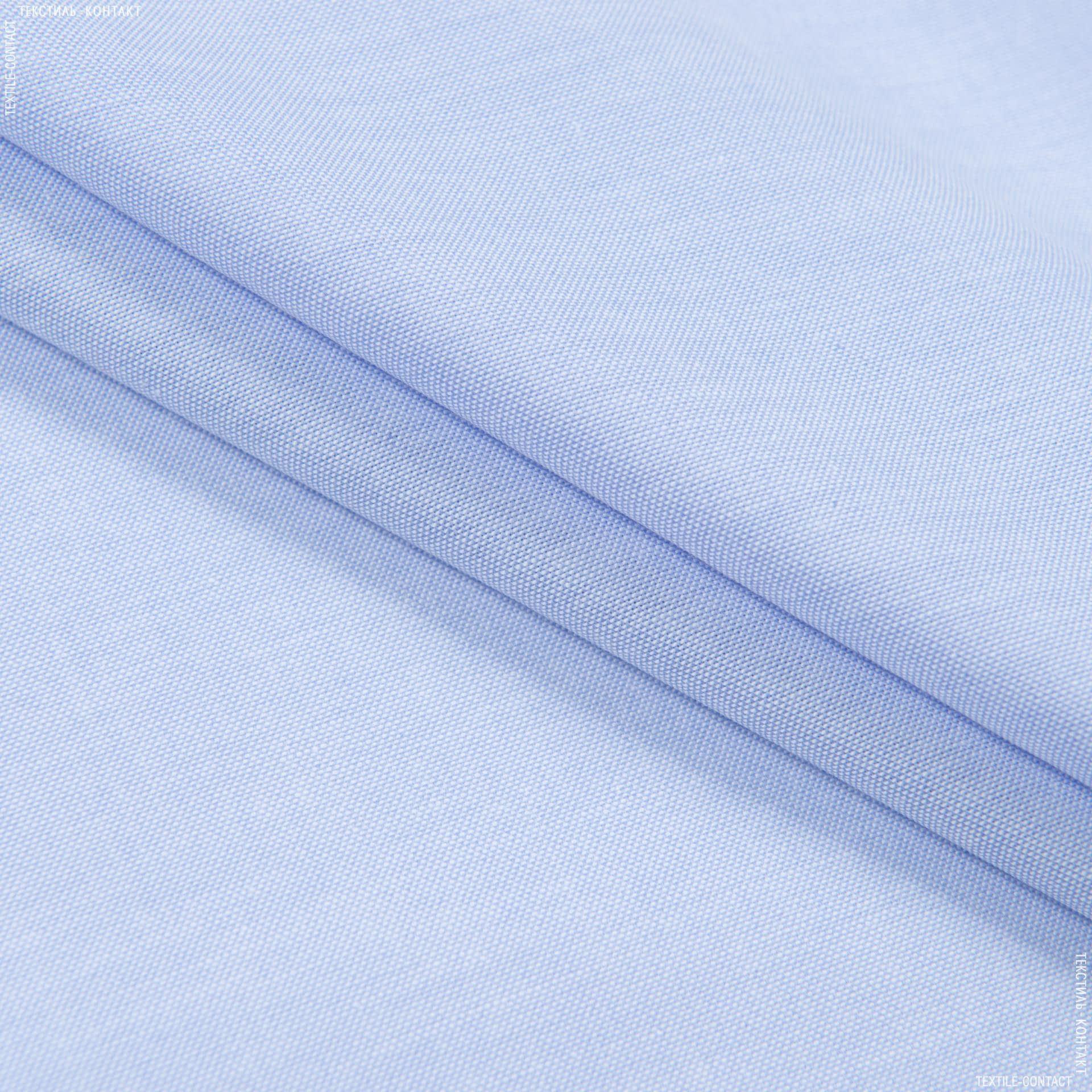 Тканини для блузок - Сорочкова рогожка світло-блакитний