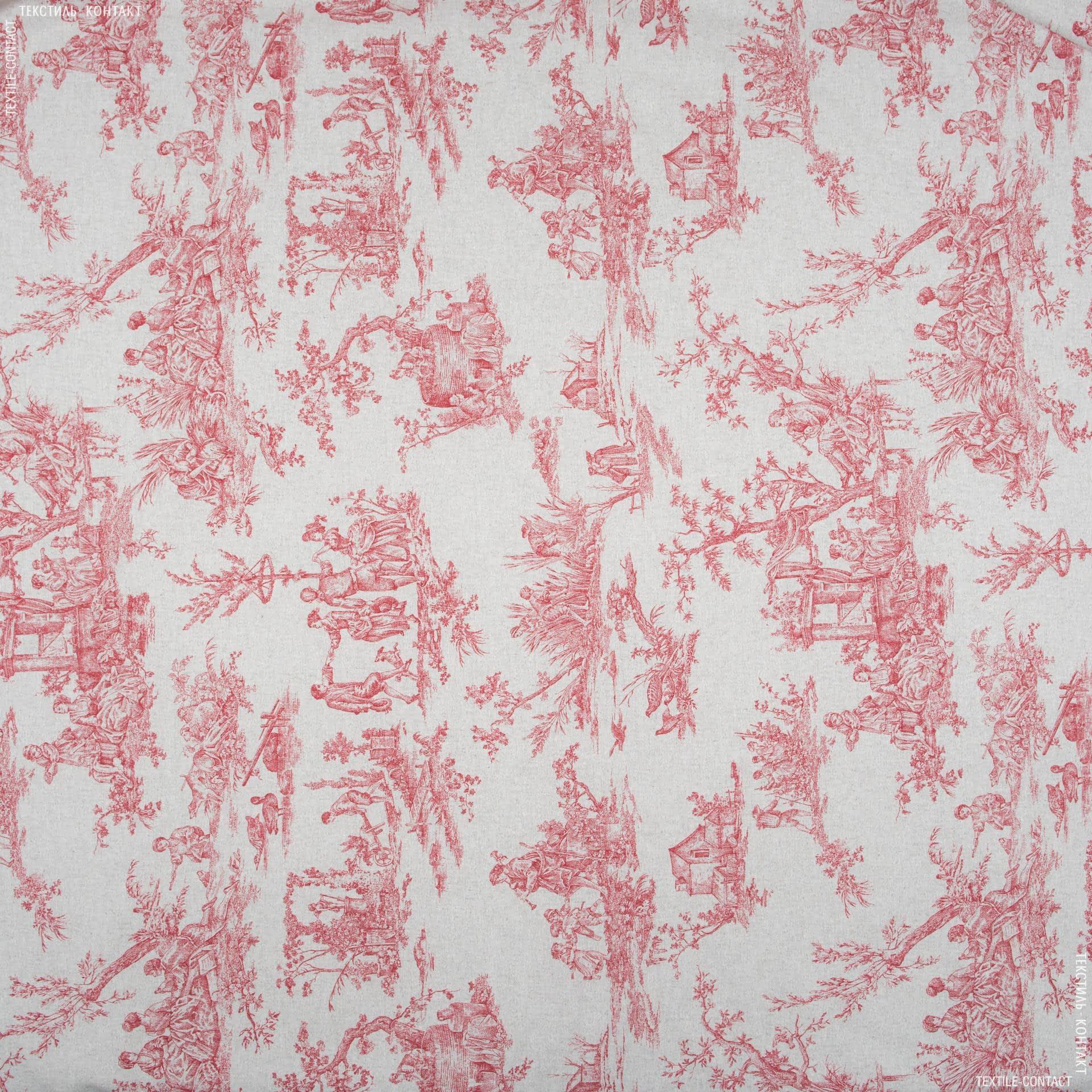 Тканини для штор - Декор туаль-де-жуі бордо