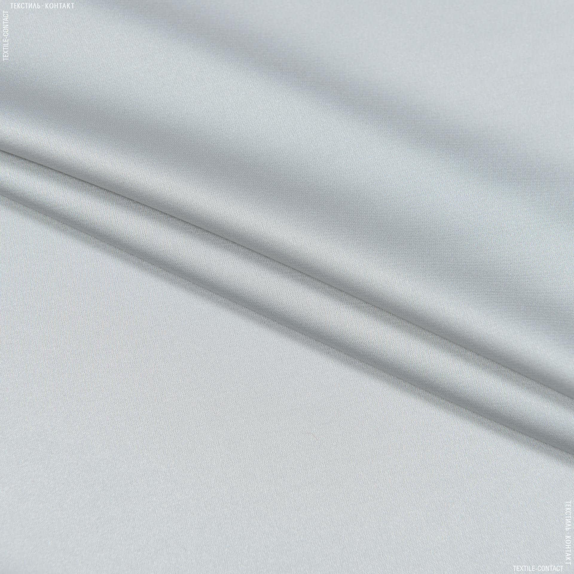Тканини для хусток та бандан - Шовк штучний стрейч світло-сірий
