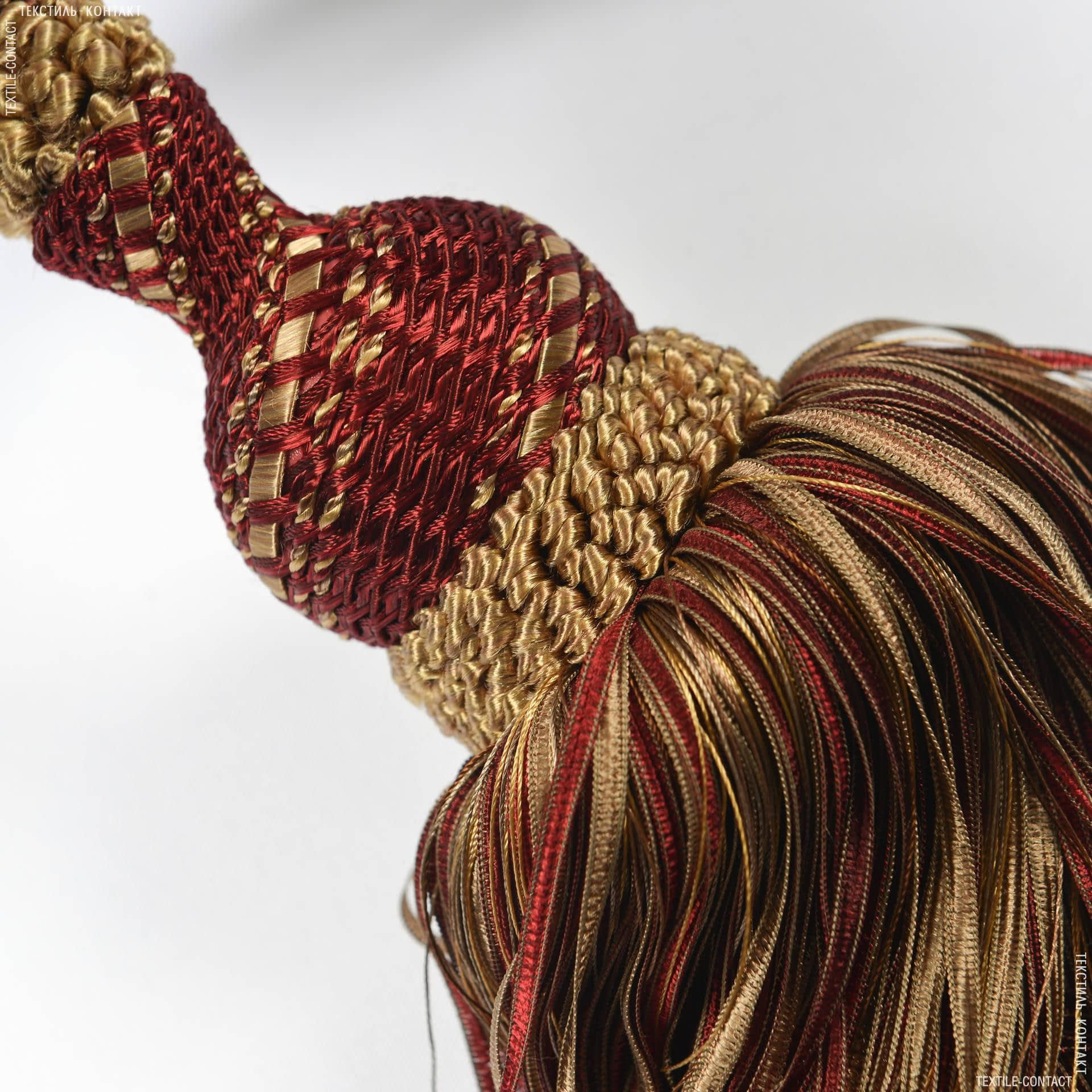 Ткани фурнитура для декора - Кисти имеджен бордо-золото