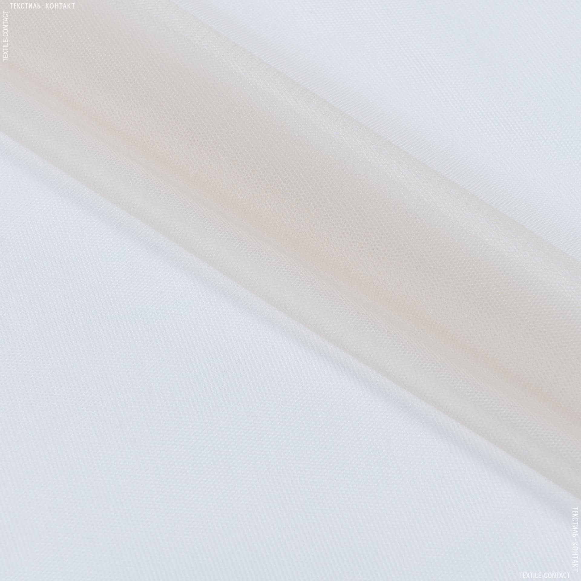 Ткани для платьев - Фатин светло-кремовый