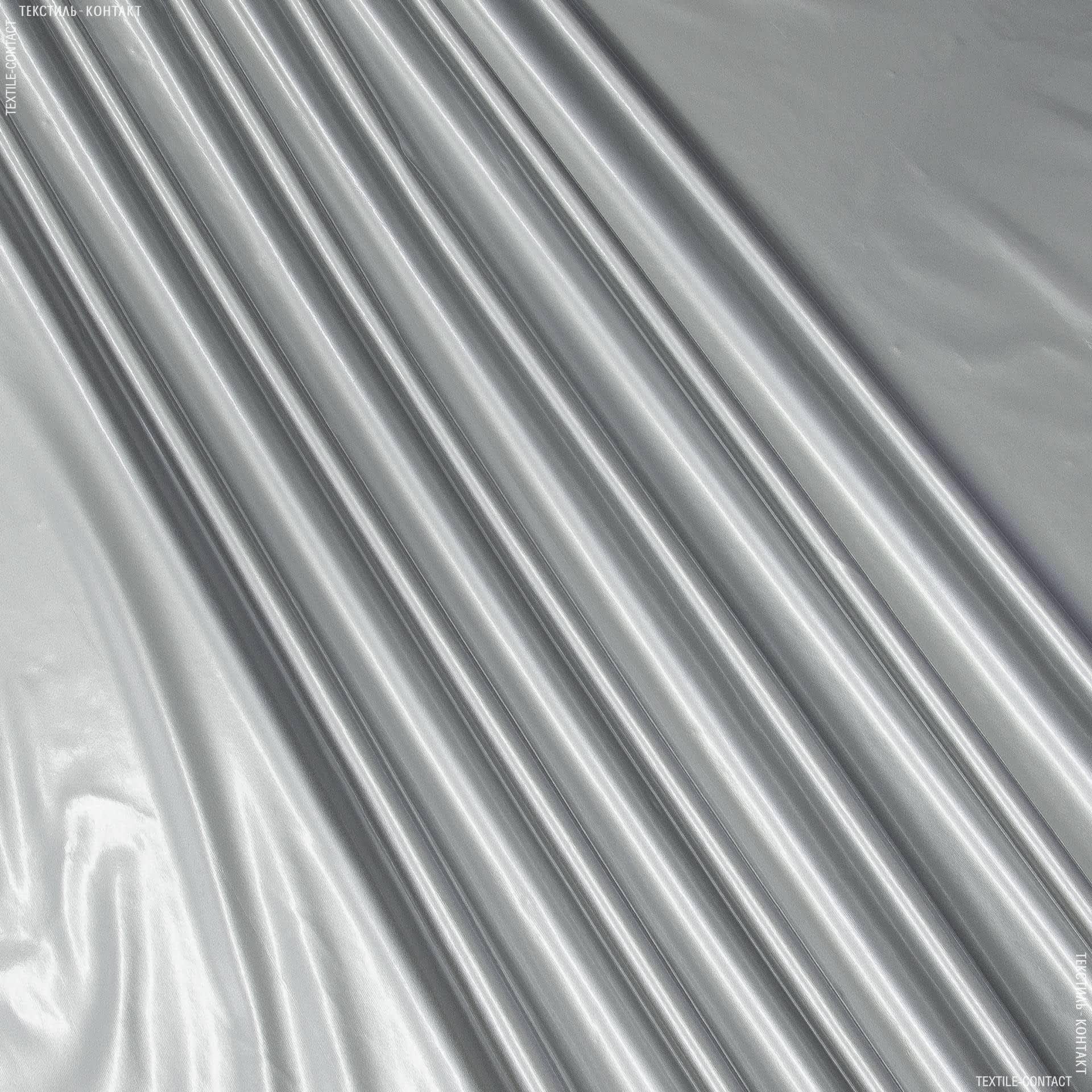 Ткани для верхней одежды - Плащевая лаке серебро