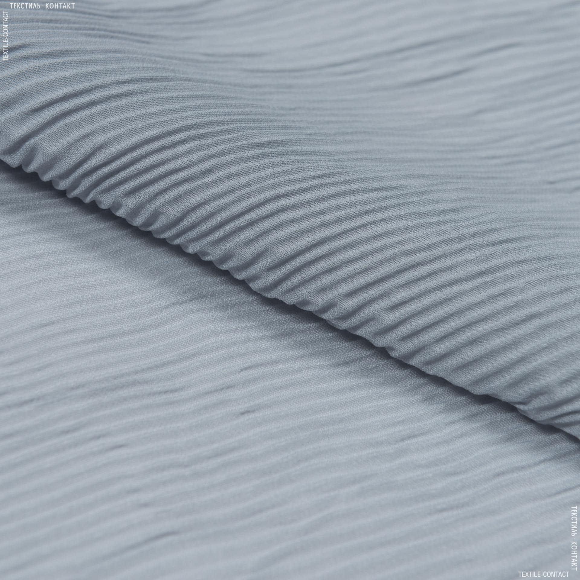 Тканини для суконь - Шифон плісе світло-сірий