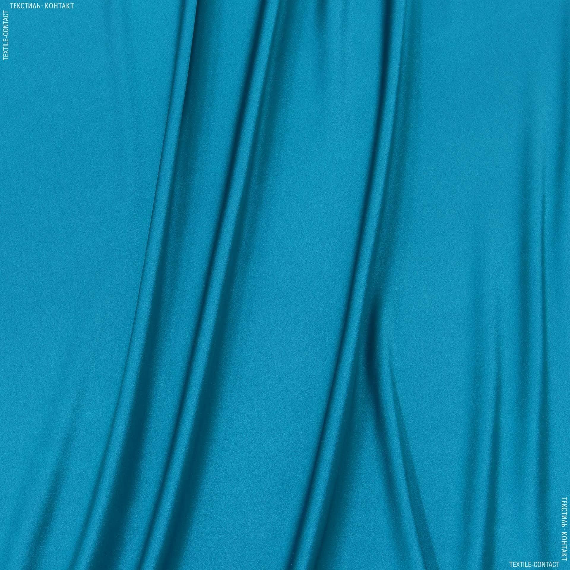 Тканини для білизни - Атлас шовк натур. стрейч темна морська хвиля