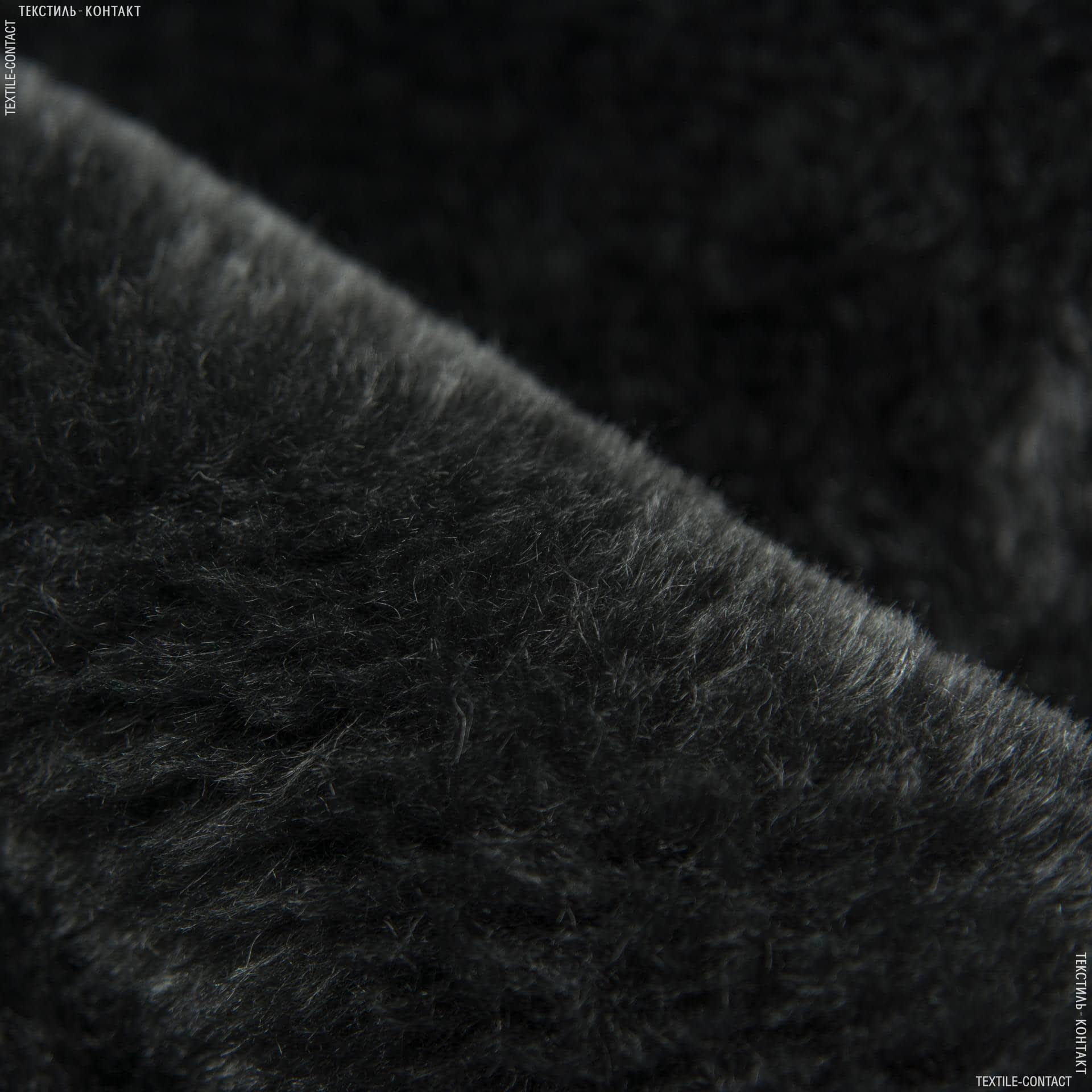 Ткани для мягких игрушек - Мех подкладочный полированный серый