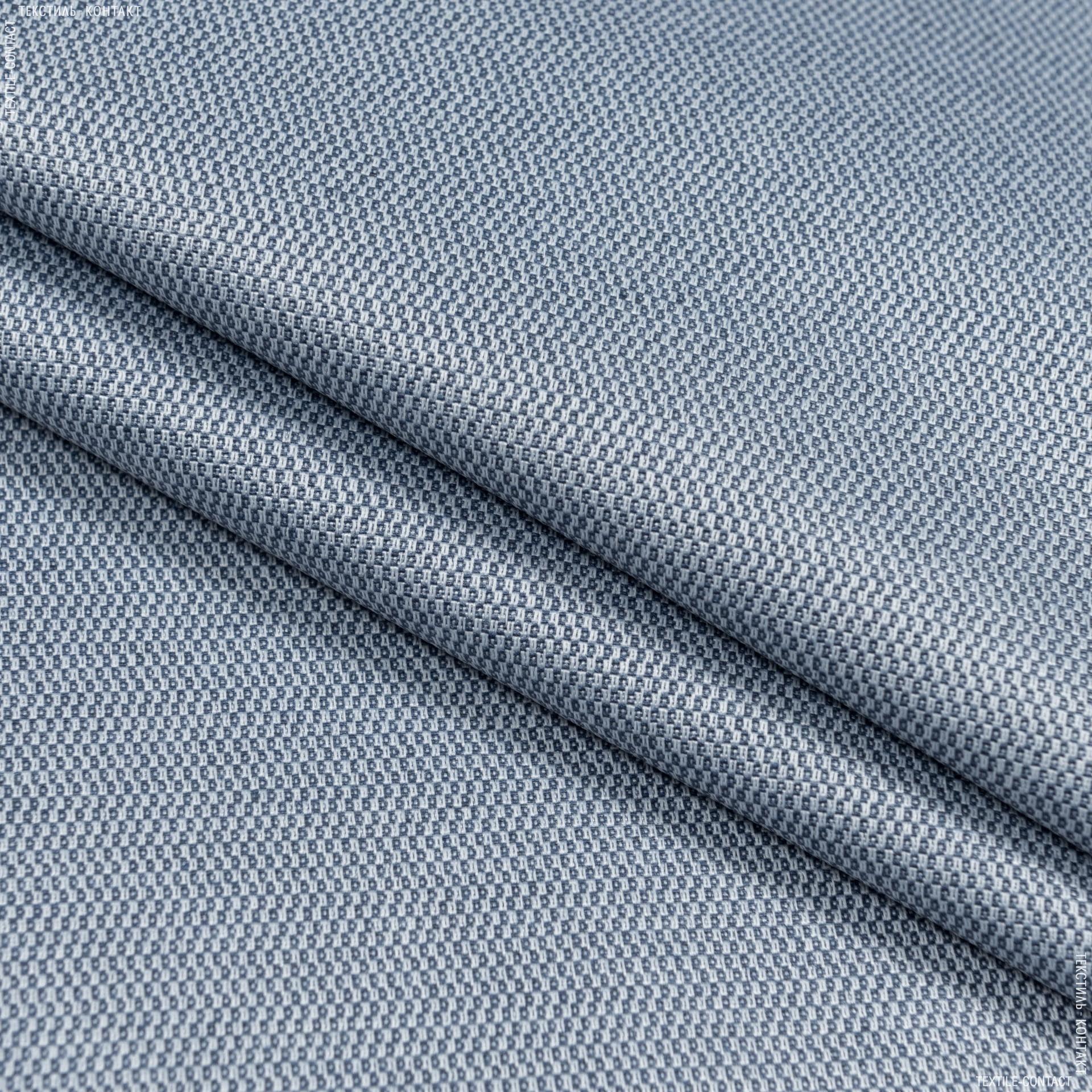 Ткани для скатертей - Ткань с акриловой пропиткой мориссот/ morissot  рогожка т. голубой