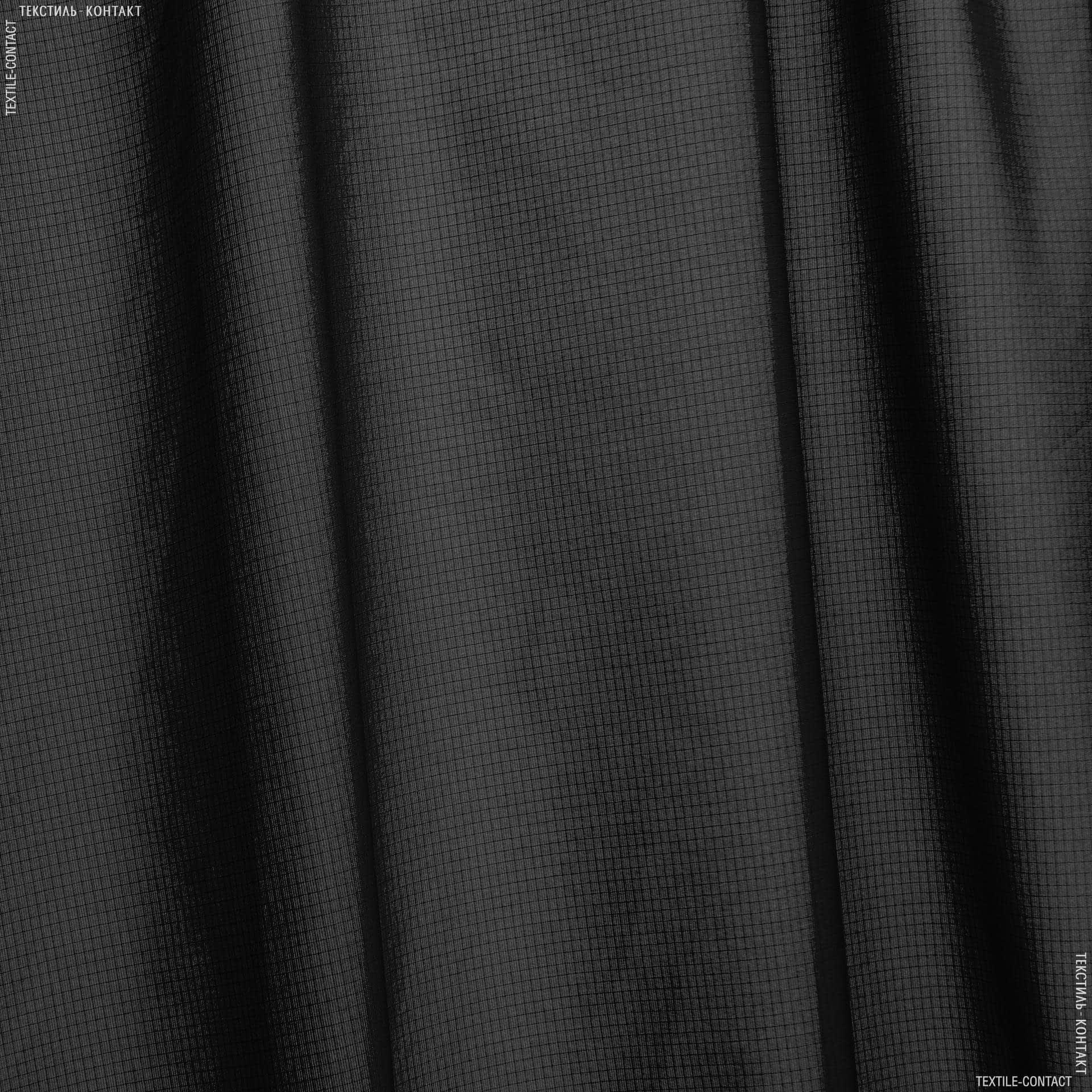 Тканини для наметів - Плащова  нейлон ріп-стоп чорний