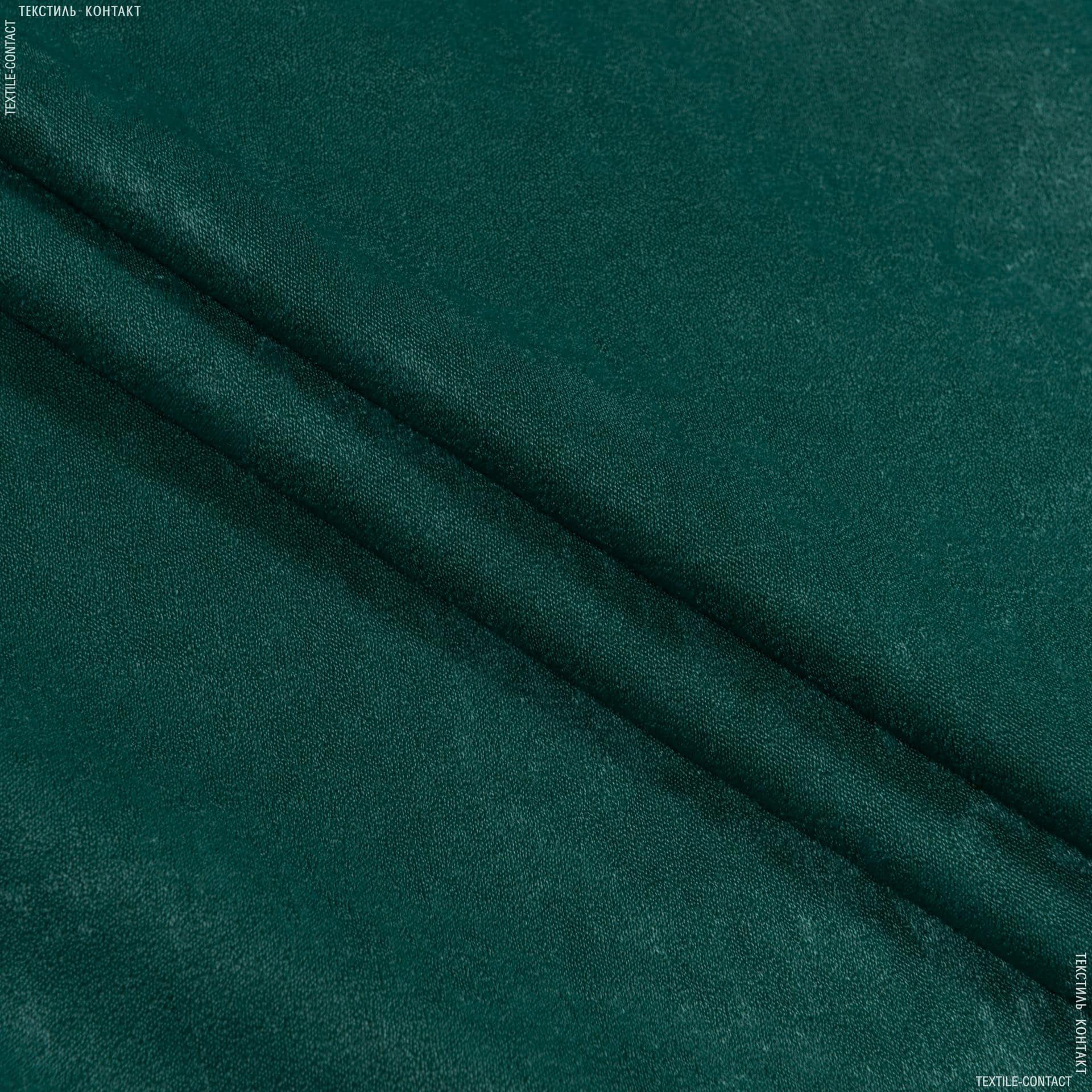 Ткани портьерные ткани - Чин-чила  софт мрамор огнеупорная fr/  т.зеленый