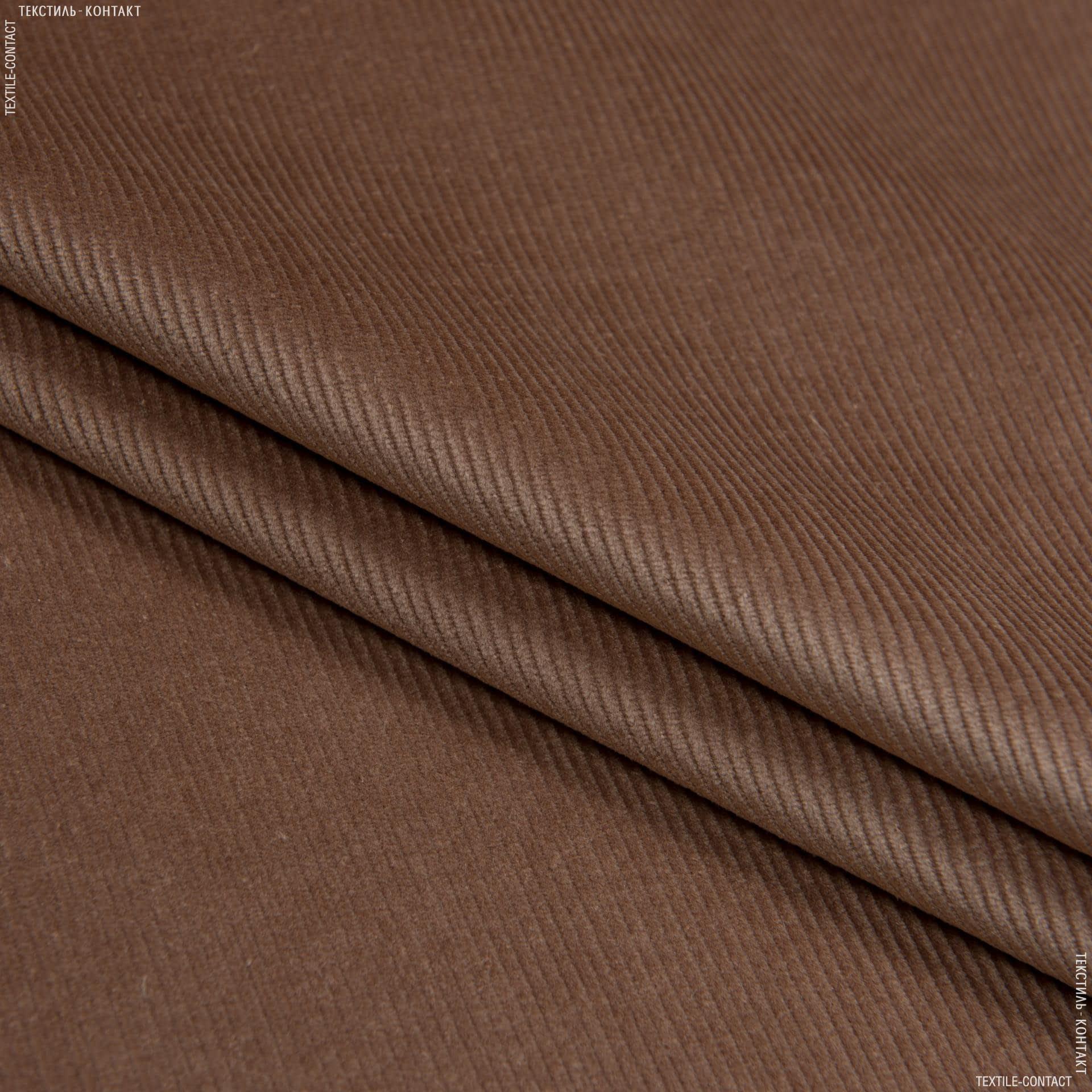 Ткани для верхней одежды - Вельвет классик светло-коричневый