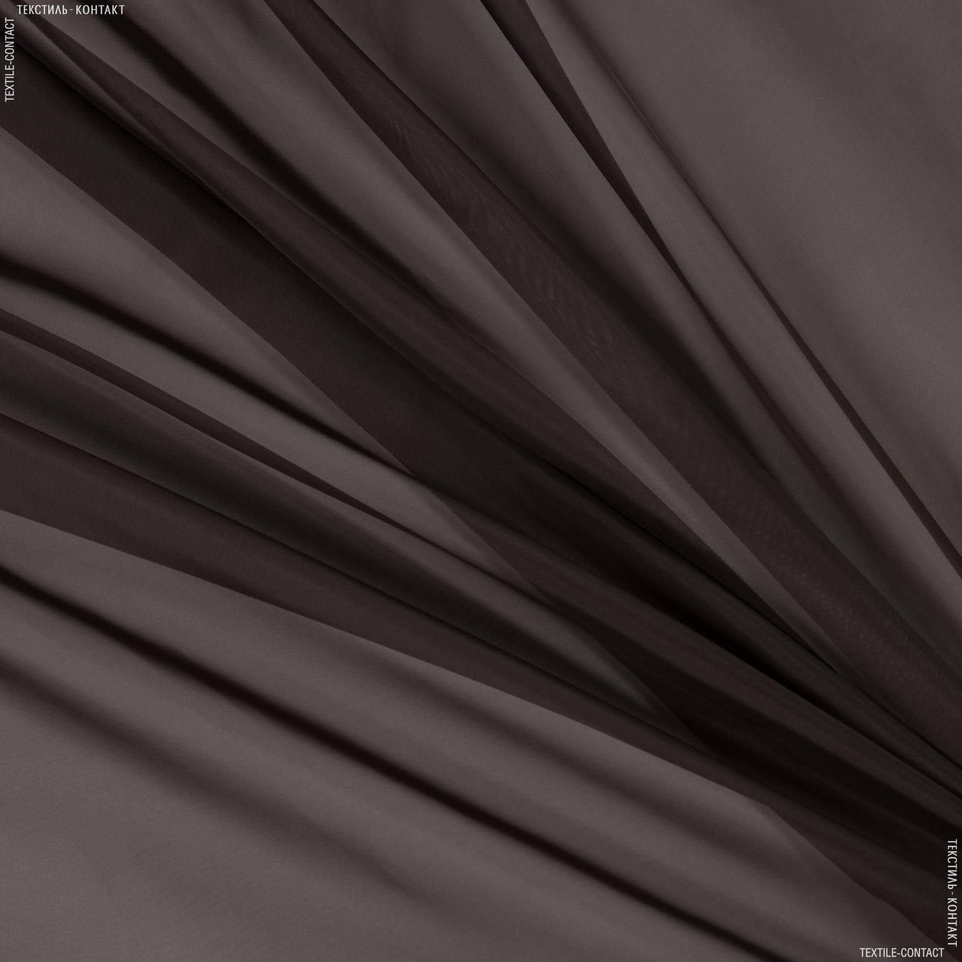 Ткани гардинные ткани - Тюль  вуаль черный шоколад