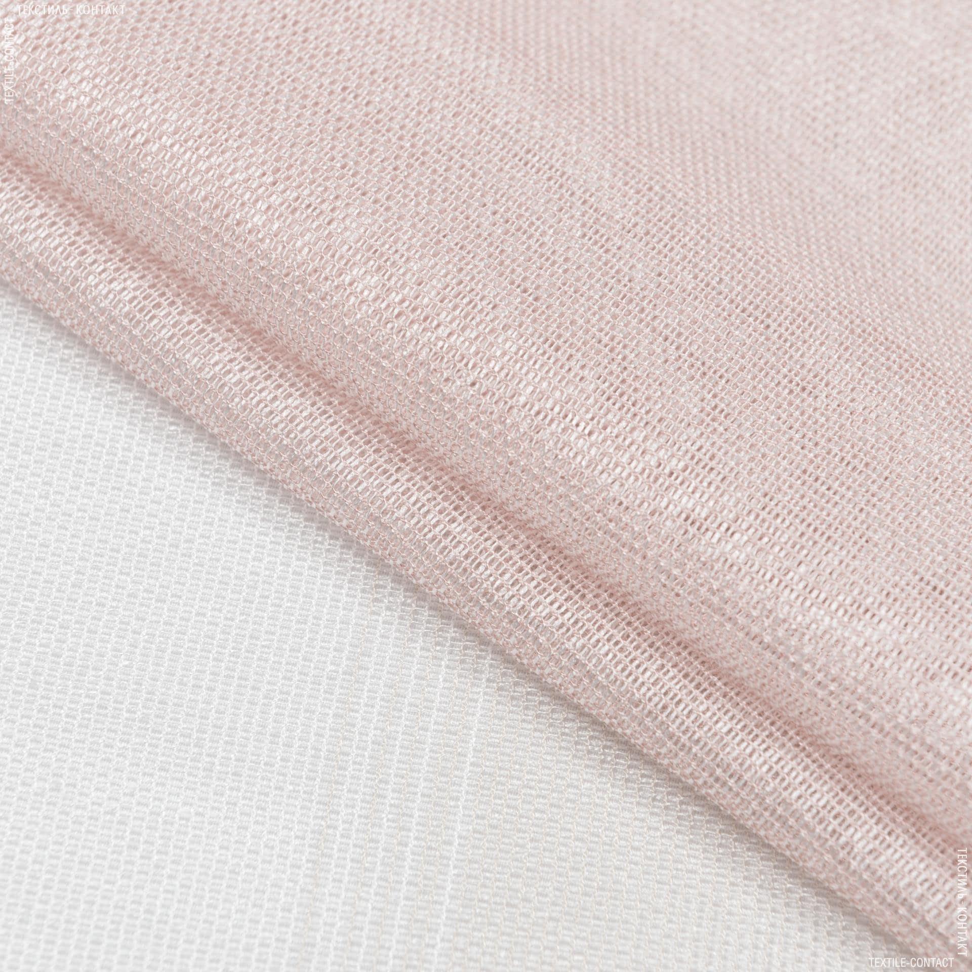 Ткани для тюли - Тюль  кармен купон полоса экрю, пудра