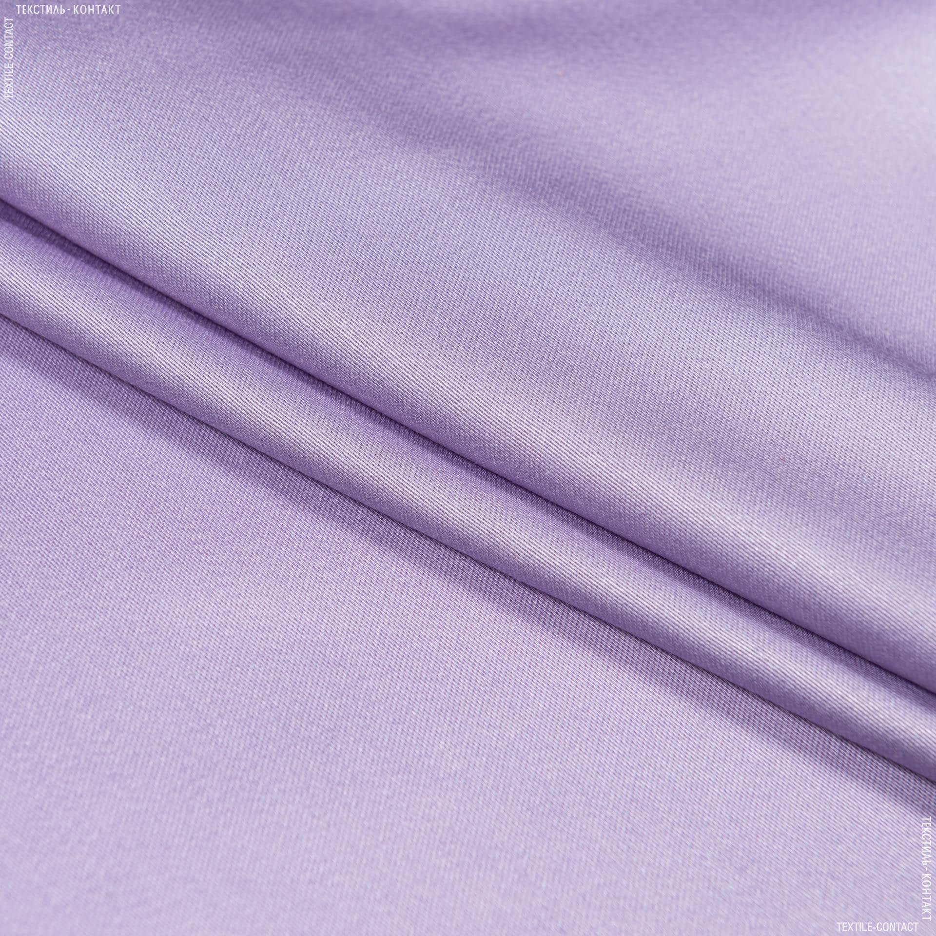 Тканини для суконь - Платтяний сатин світло-бузковий