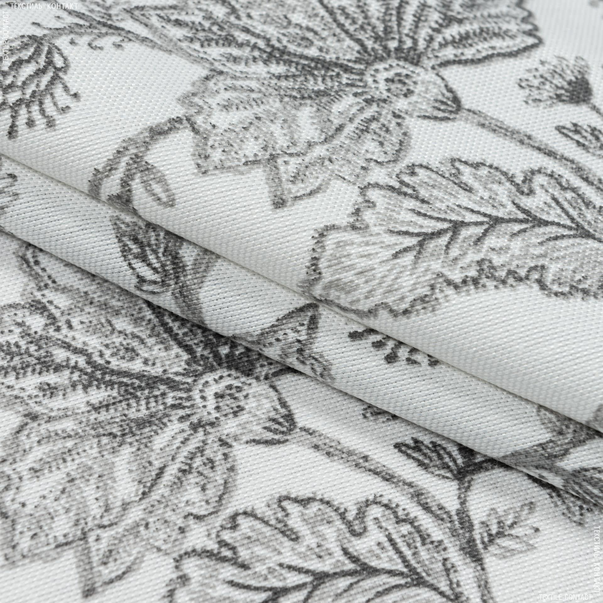 Ткани портьерные ткани - Декоративная ткань панама хани цветы фон белый