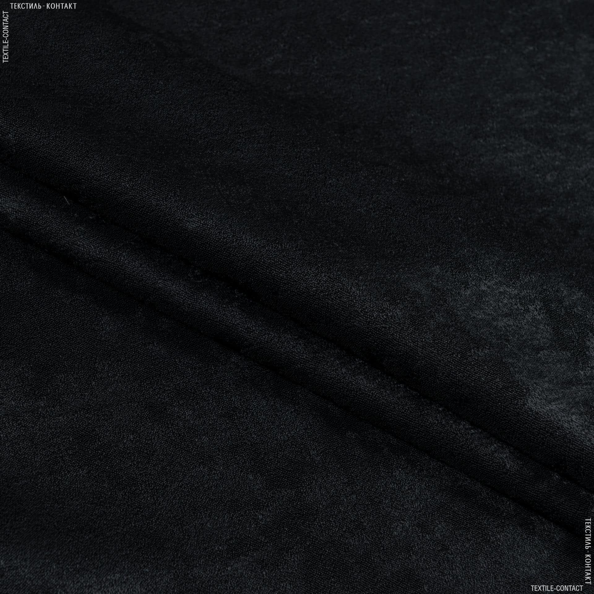 Тканини портьєрні тканини - Чін-чіла софт мрамор вогнетривка fr/ чорний