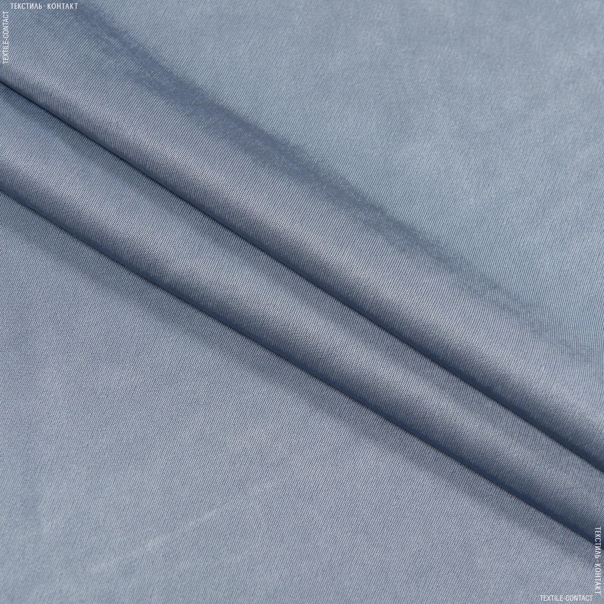 Тканини для костюмів - Платтяний атлас платон сіро-синій