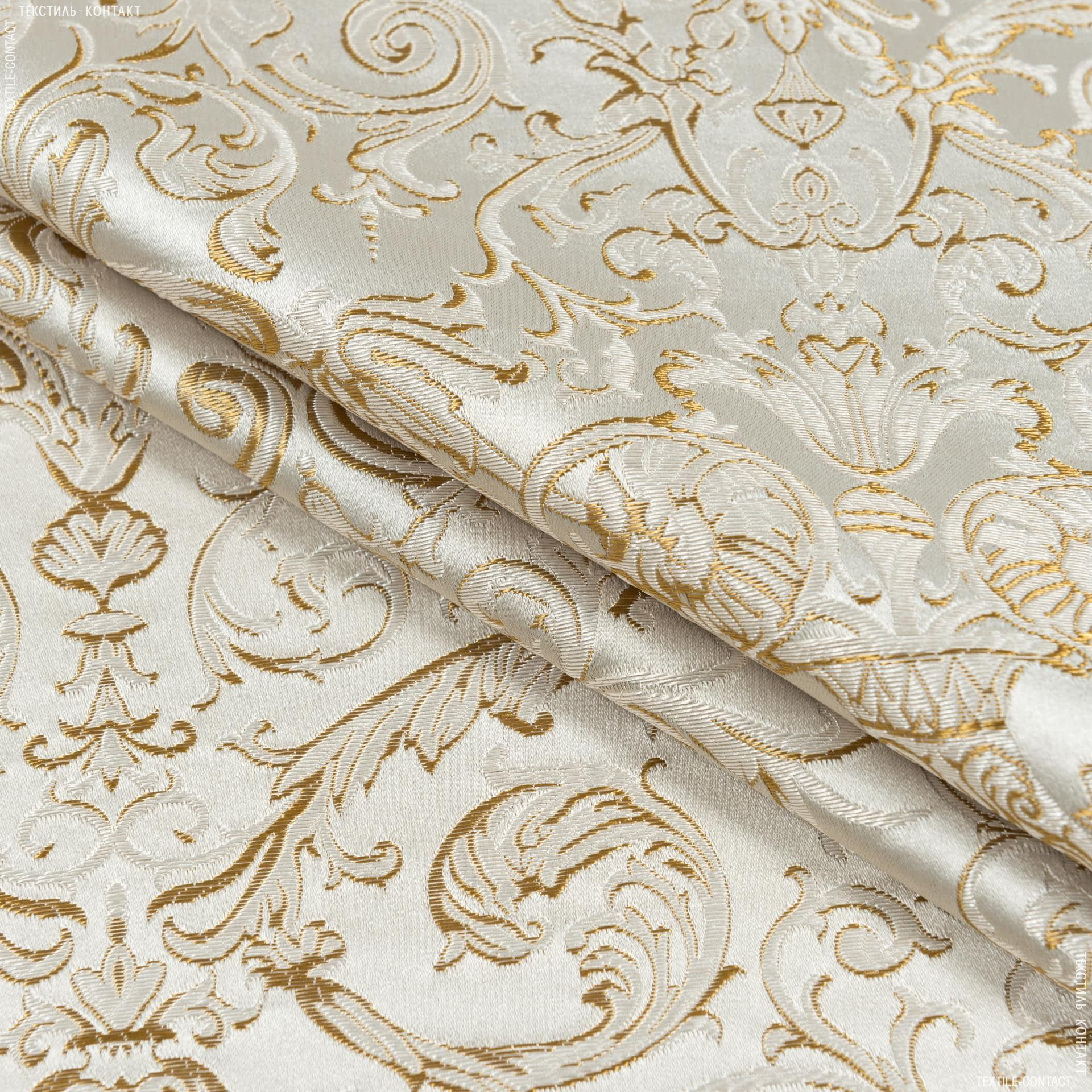 Тканини портьєрні тканини - Портьєрна тканина нелі вензель амфора крем тон крем-брюле