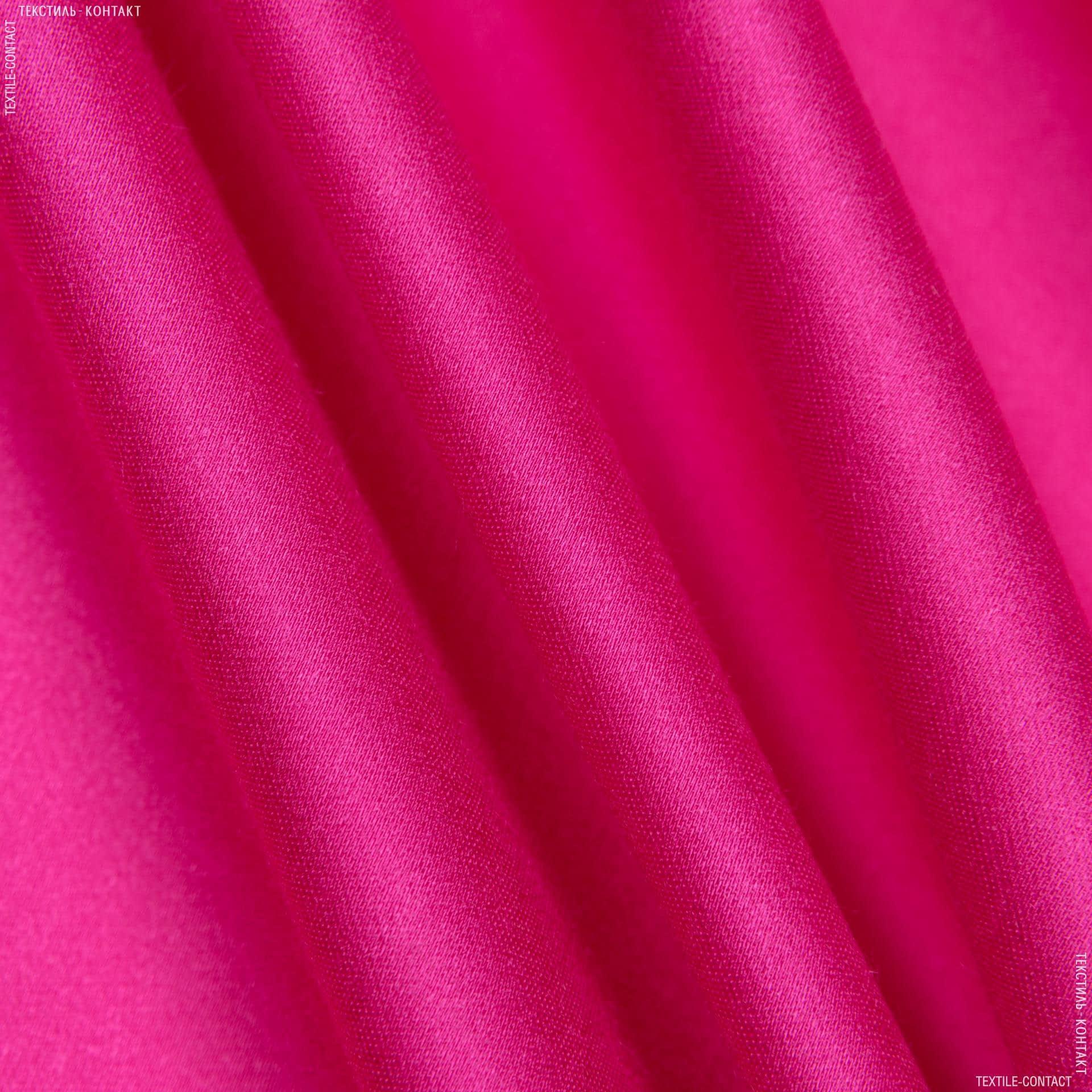 Ткани для костюмов - Костюмный сатин малиновый