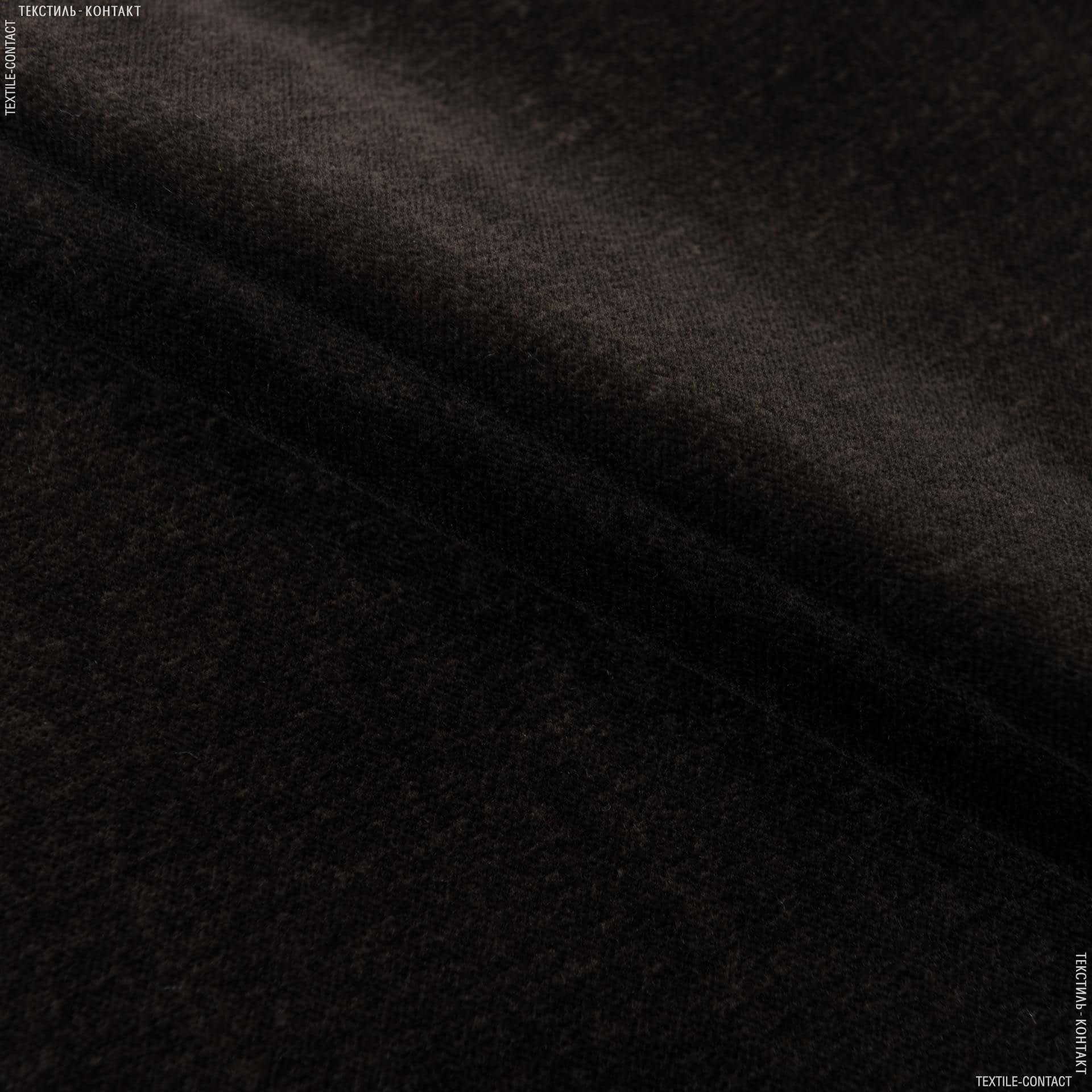 Тканини для меблів - Велюр дербі/derbi т.коричневий сток