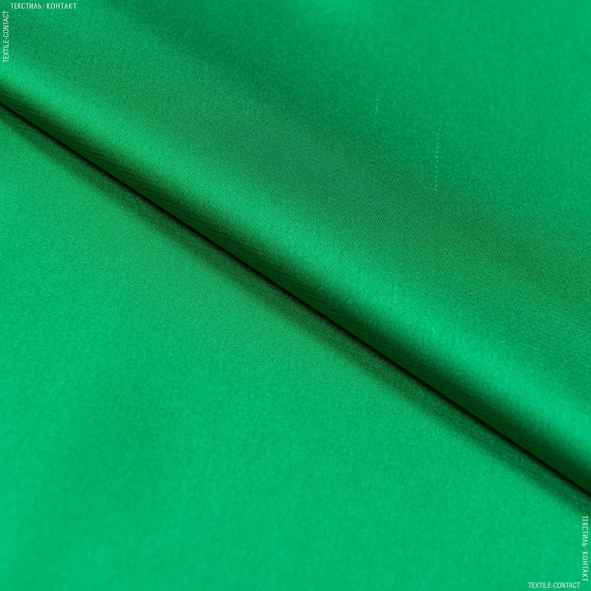 Ткани для платьев - Шелк искусственный стрейч трава
