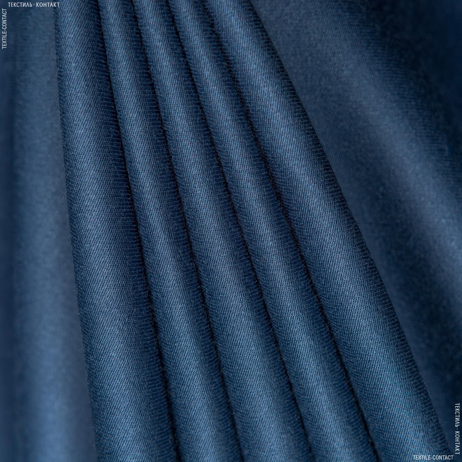 Тканини для костюмів - Костюмний сатин віскозний сіро-синій