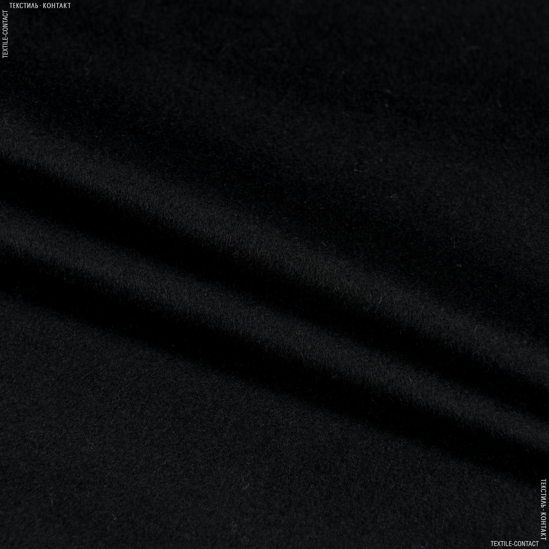 Тканини для верхнього одягу - Пальтовий кашемір чорний