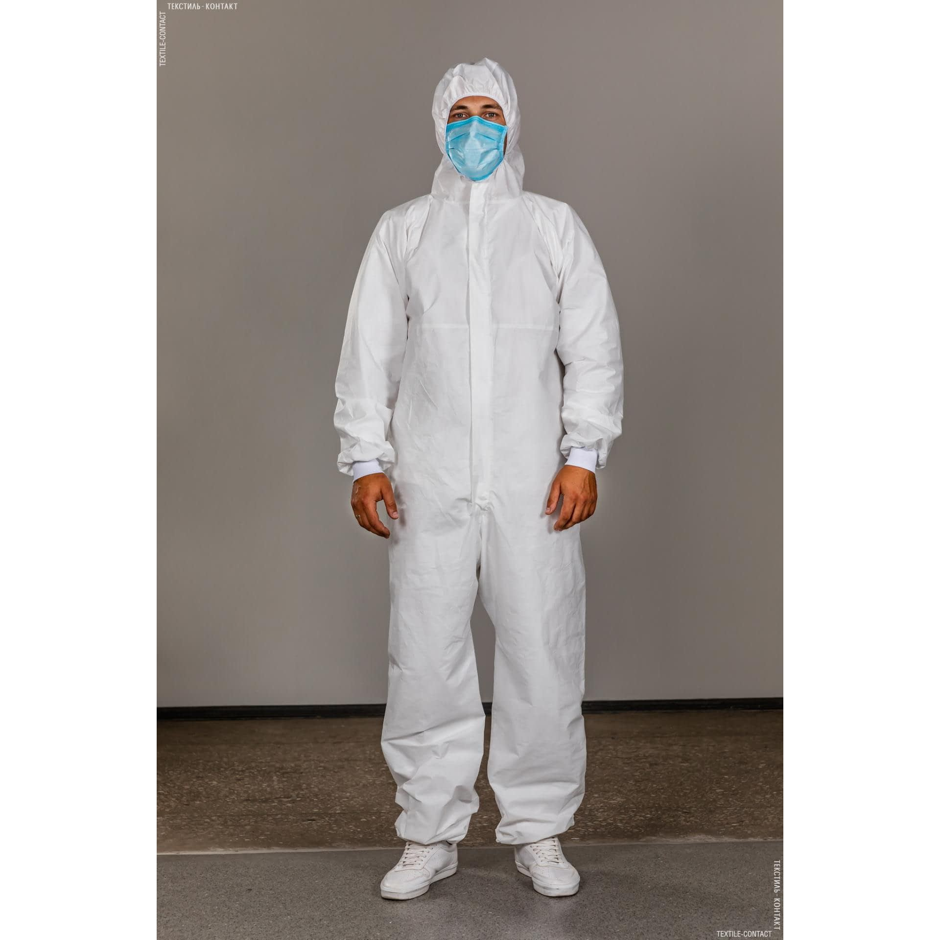 Ткани защитные костюмы - Комбинезон защитный многоразовый TYVEK 500 Xpert белый XL