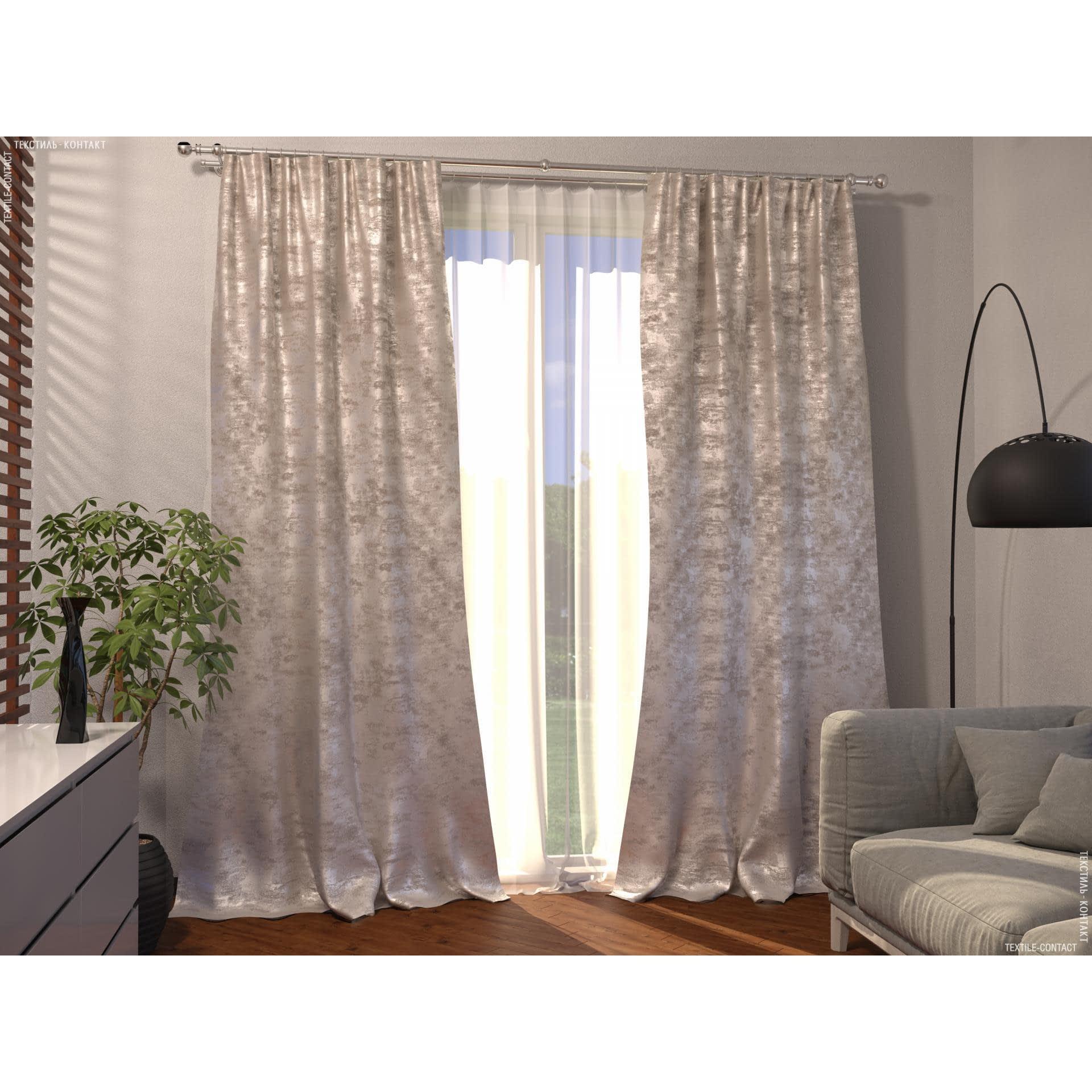 Ткани готовые изделия - Декоративная штора кварц/св.беж,какао 150/270 cm