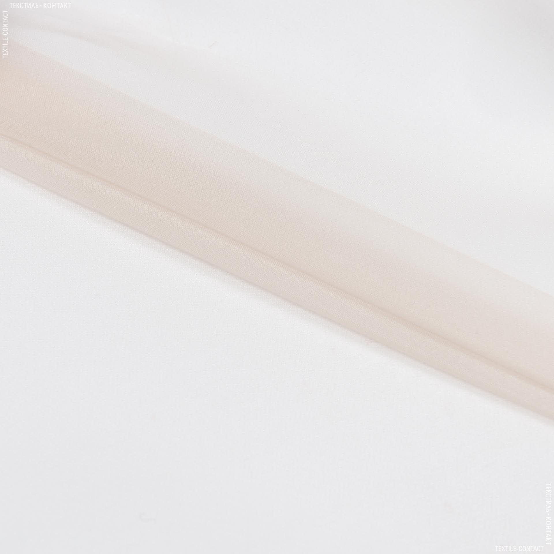 Тканини для суконь - Шовк-органза щільний світло-пісочний