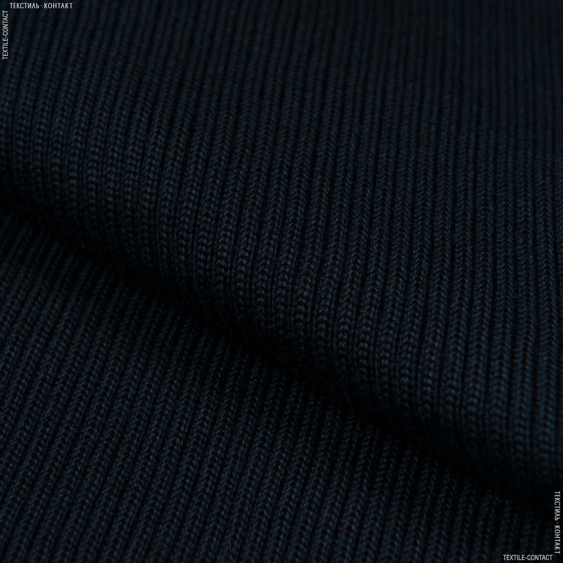 Ткани ластичные - Ластик- манжет 2х2  40см х 2 темно-синий