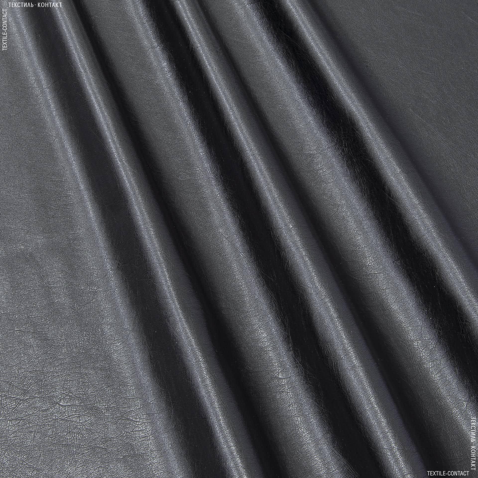 Тканини для штанів - Шкіра штучна чорний