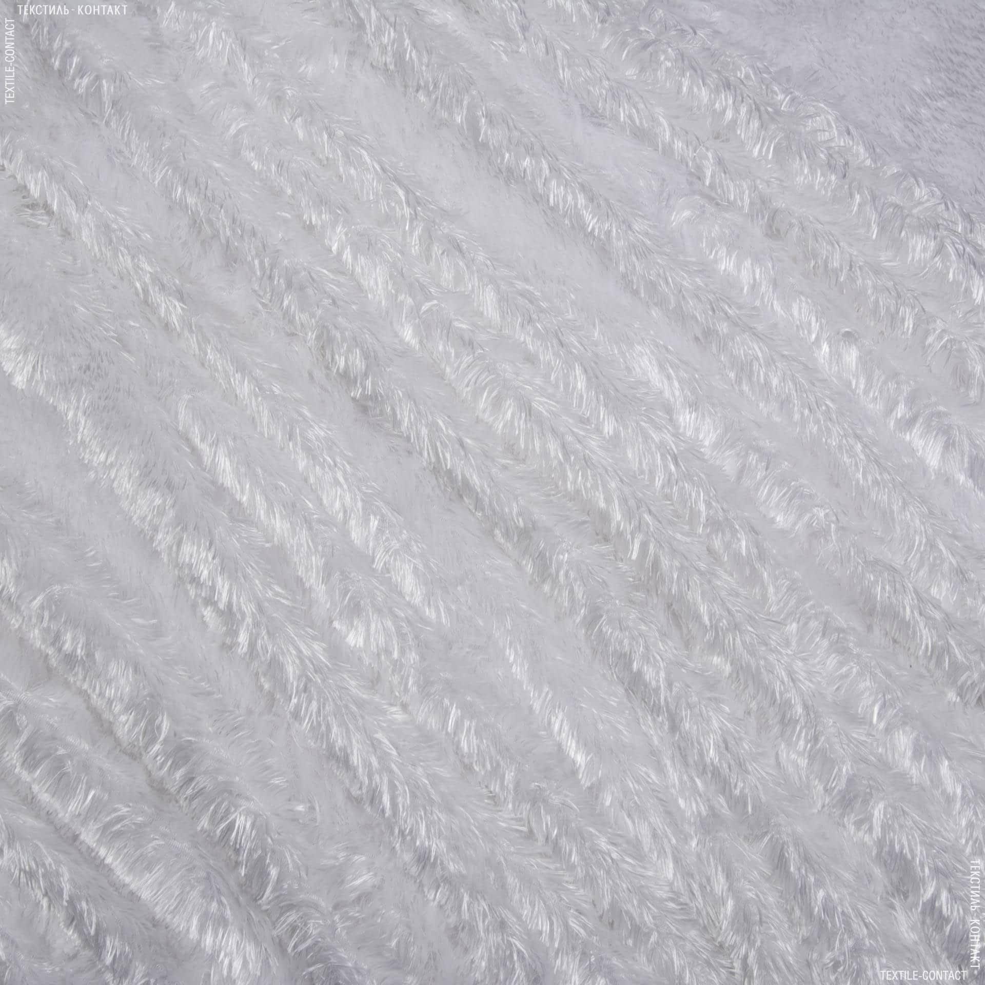 Тканини для верхнього одягу - Хутро травка вибілене
